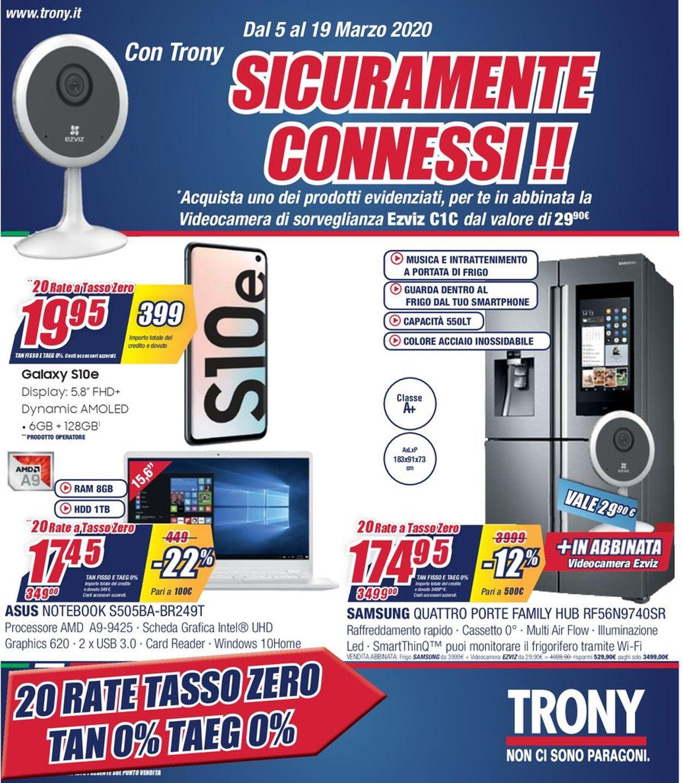Volantino Trony - Offerte 05/03-19/03/2020
