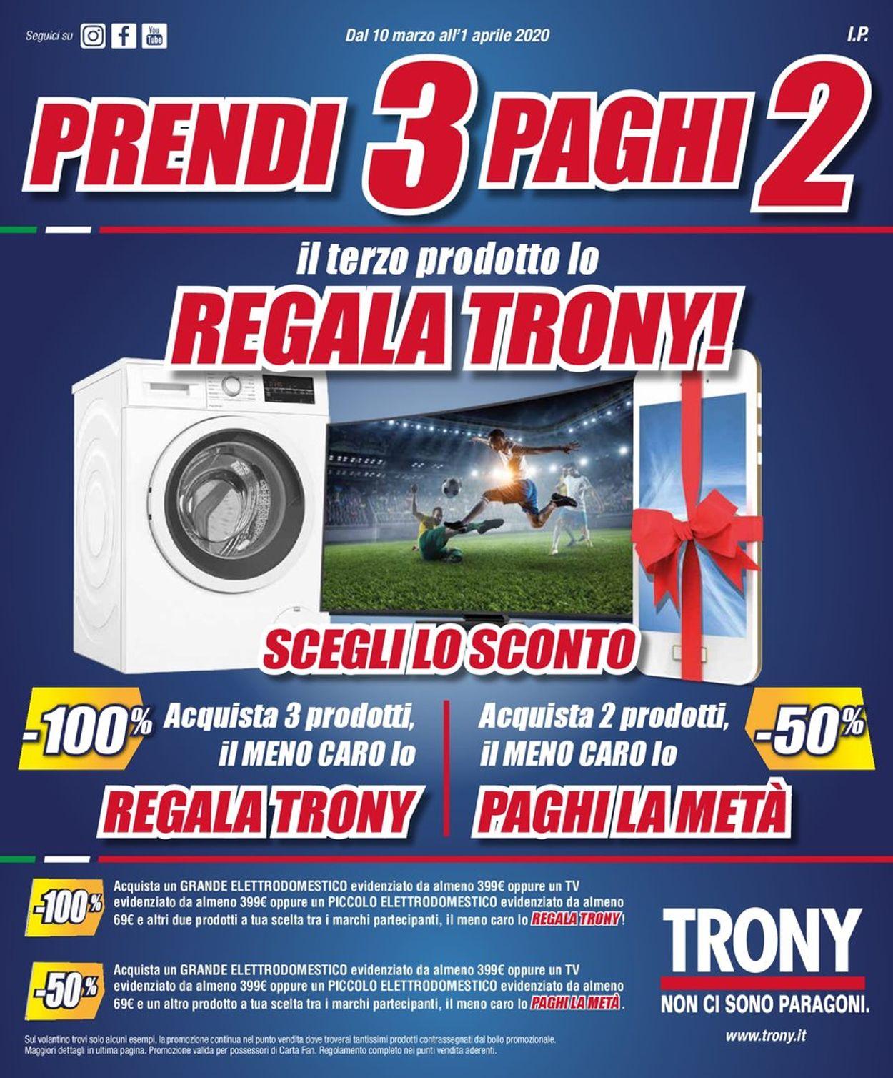 Volantino Trony - Offerte 10/03-01/04/2020