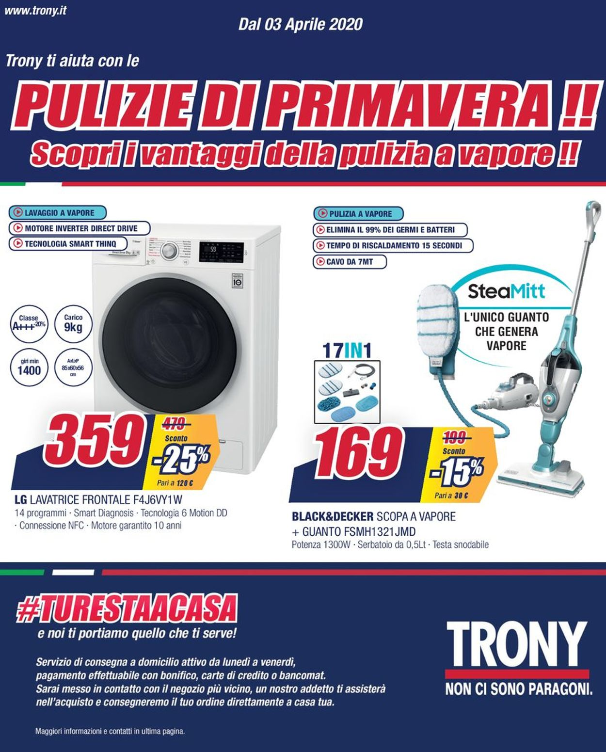 Volantino Trony - Offerte 03/04-16/04/2020