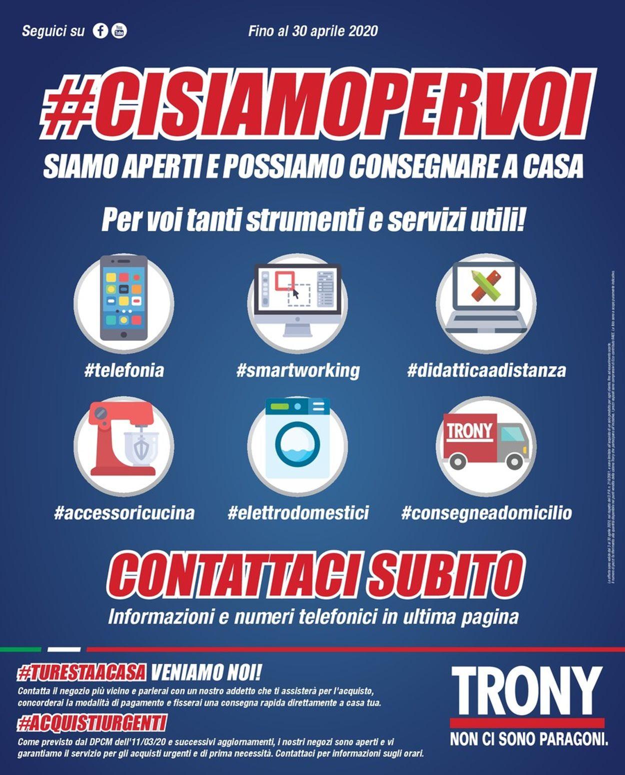 Volantino Trony - Offerte 08/04-30/04/2020