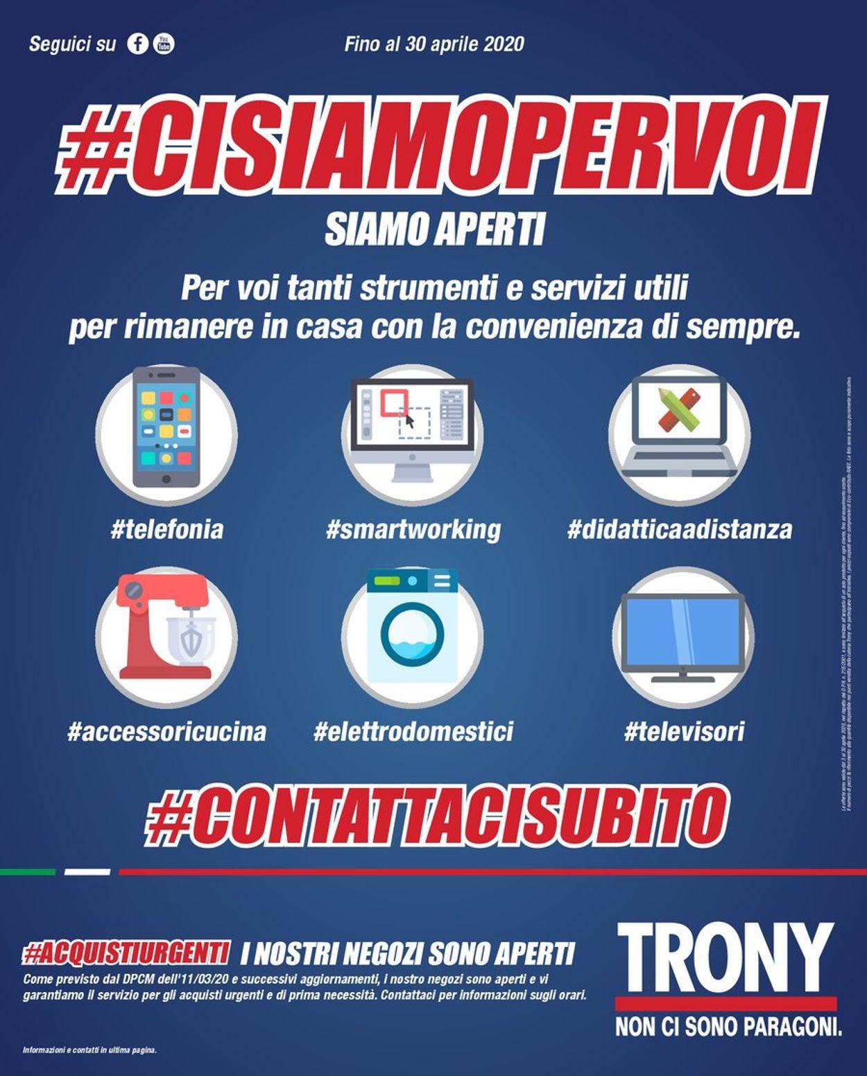 Volantino Trony - Offerte 13/04-30/04/2020