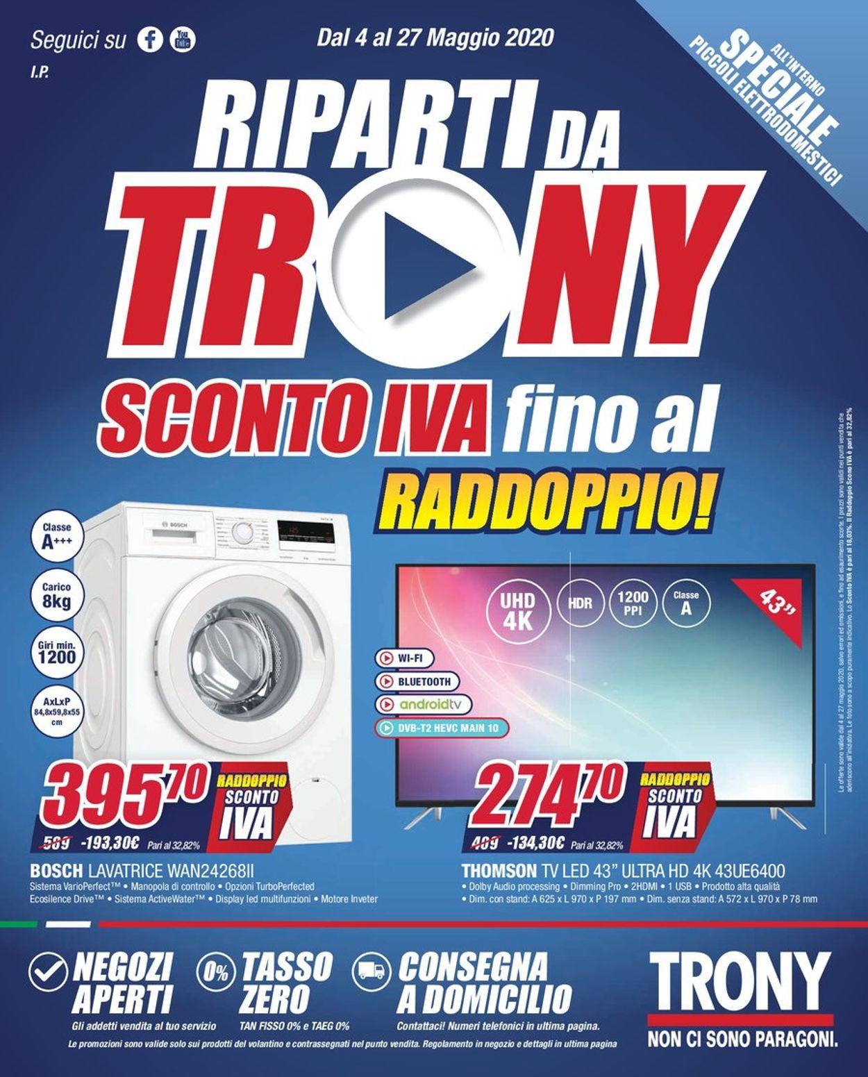 Volantino Trony - Offerte 04/05-27/05/2020