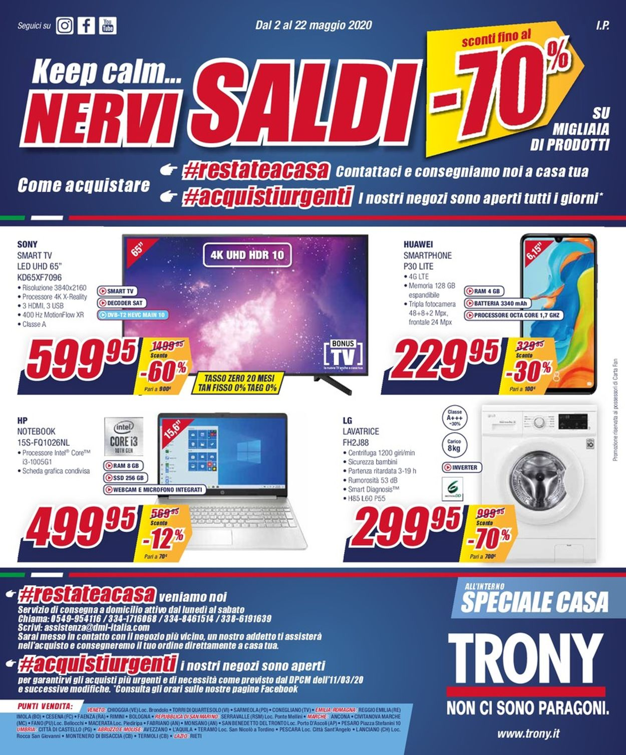 Volantino Trony - Offerte 02/05-22/05/2020