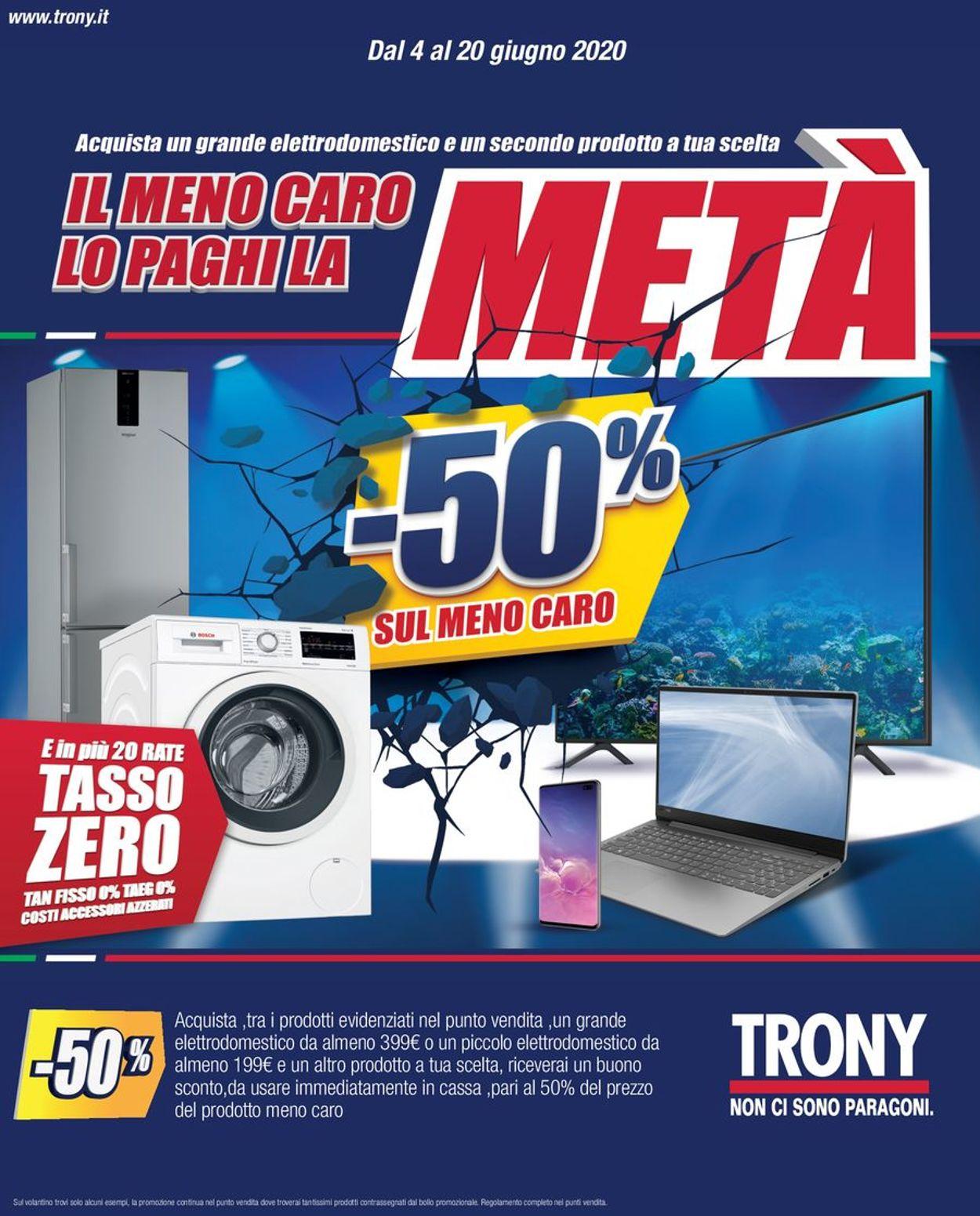 Volantino Trony - Offerte 04/06-20/06/2020