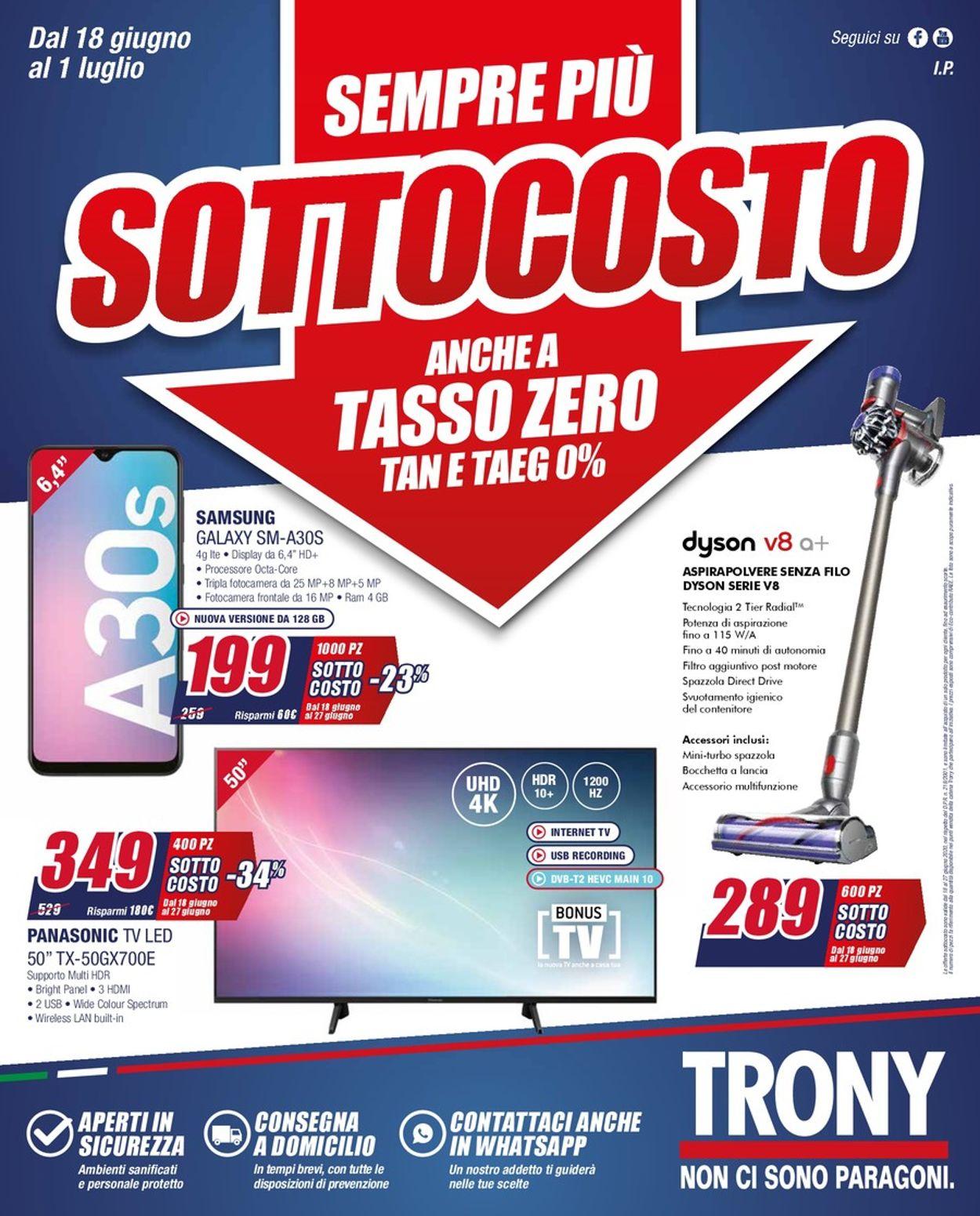 Volantino Trony - Offerte 18/06-01/07/2020