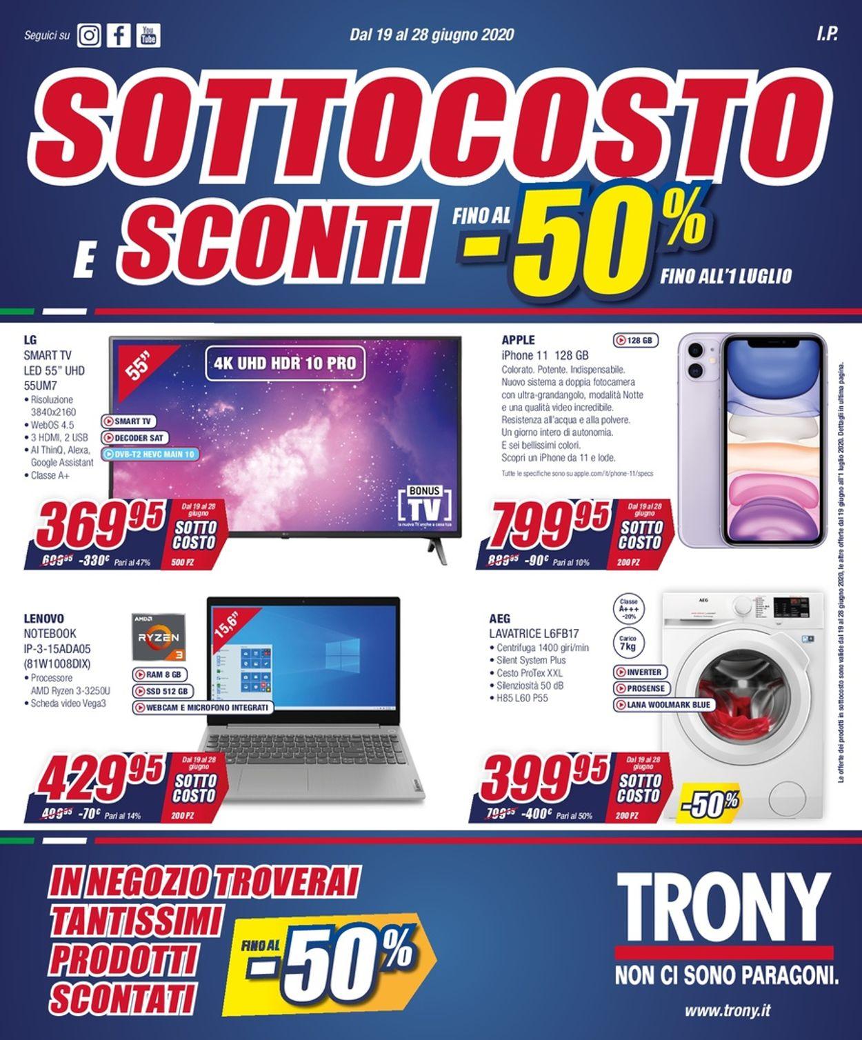 Volantino Trony - Offerte 19/06-28/07/2020