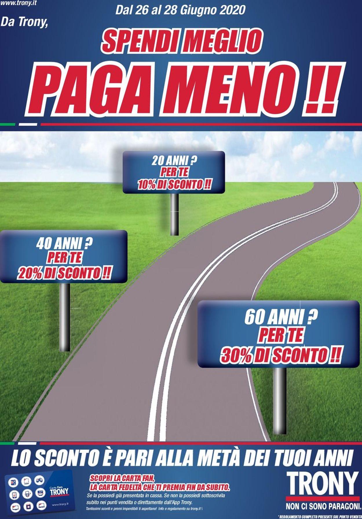 Volantino Trony - Offerte 26/06-28/06/2020