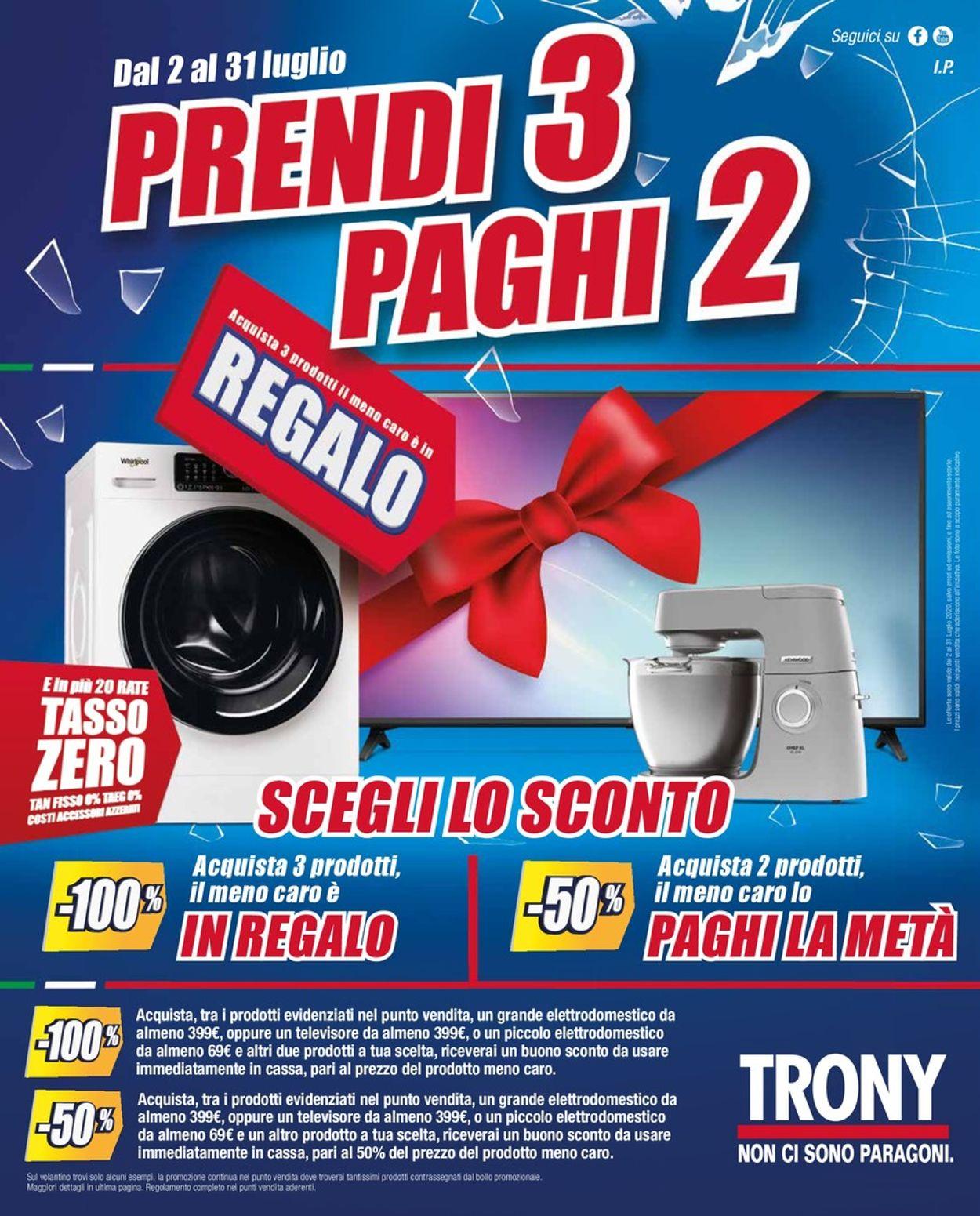 Volantino Trony - Offerte 02/07-31/07/2020