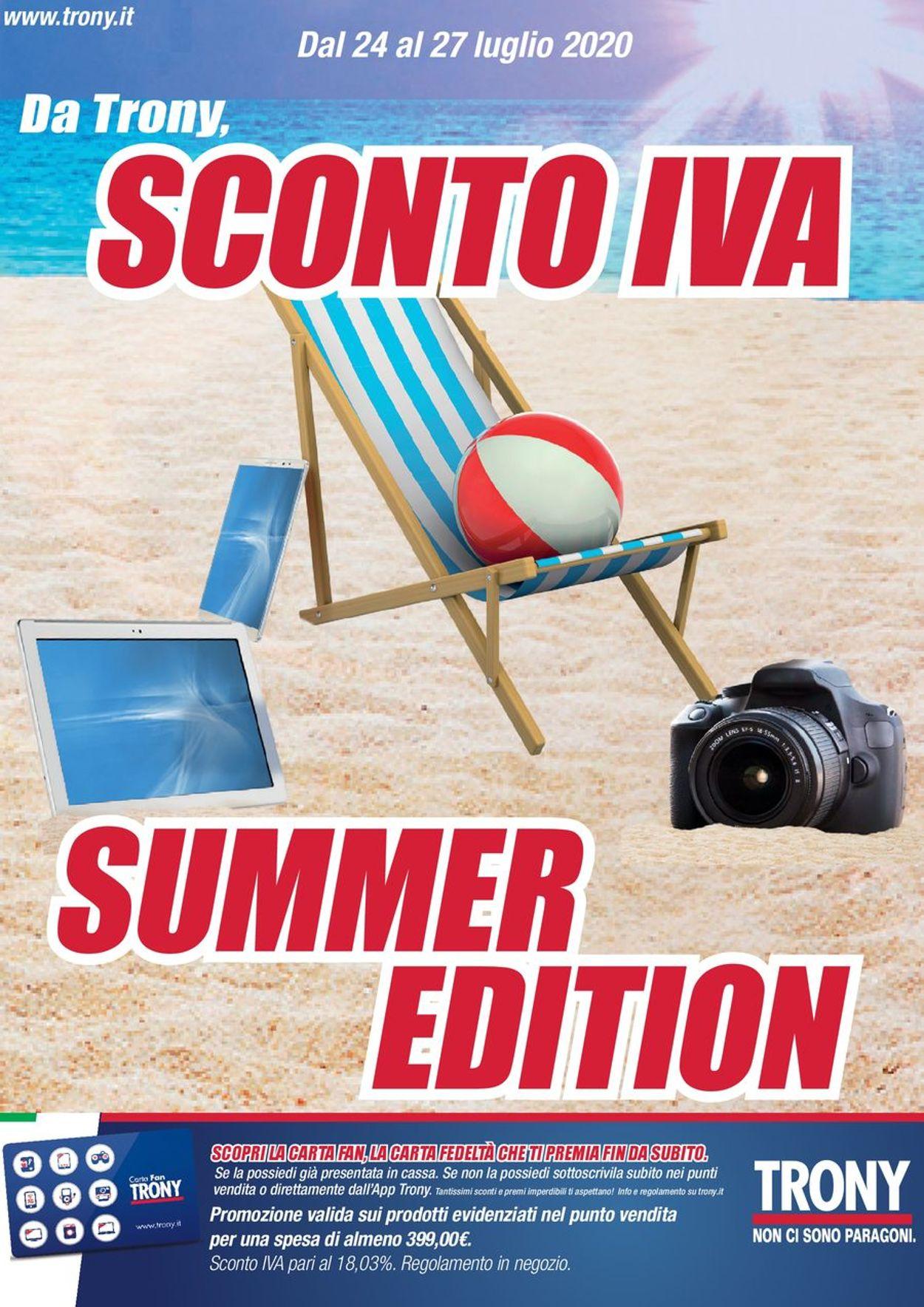 Volantino Trony - Offerte 24/07-27/07/2020