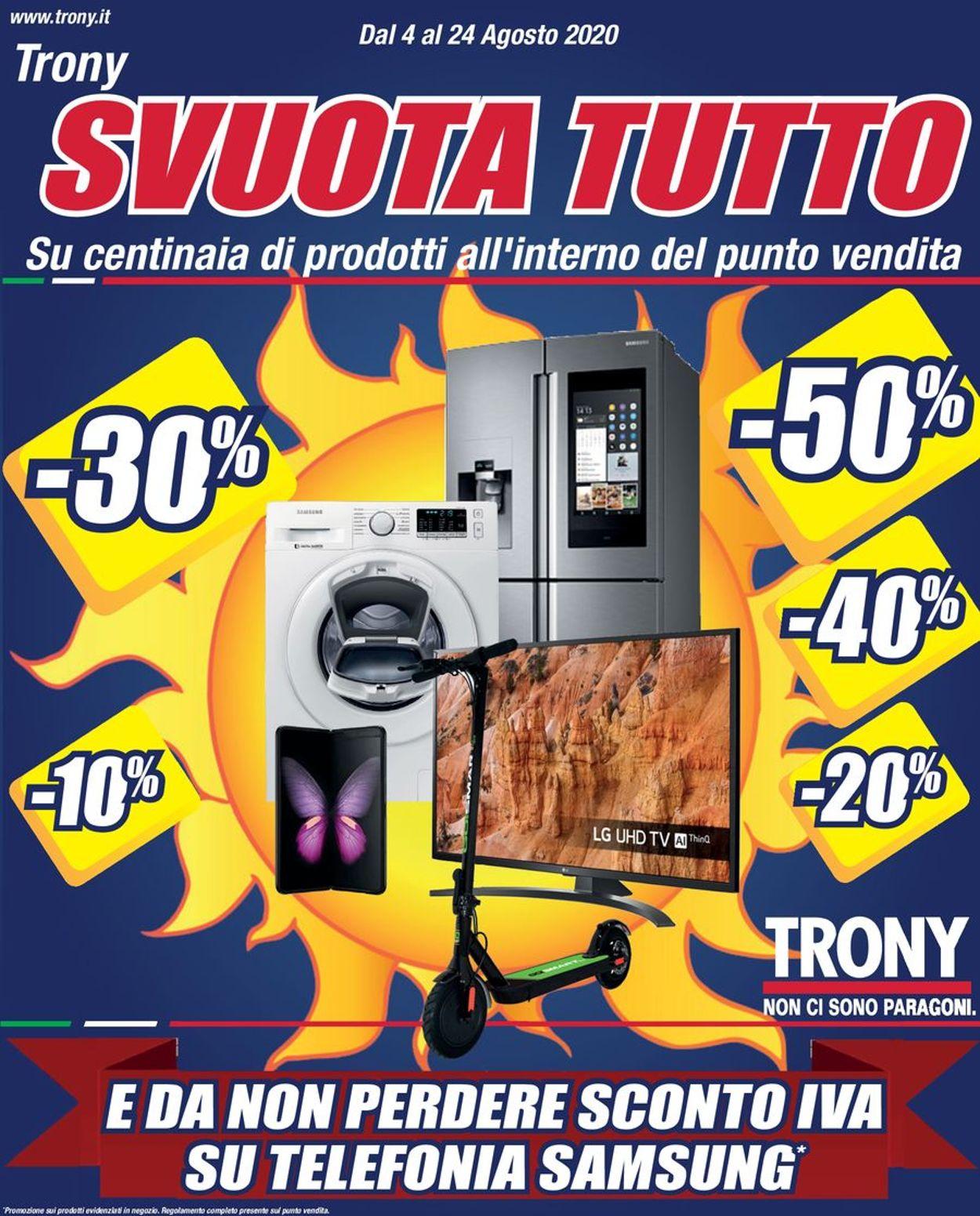 Volantino Trony - Offerte 04/08-24/08/2020