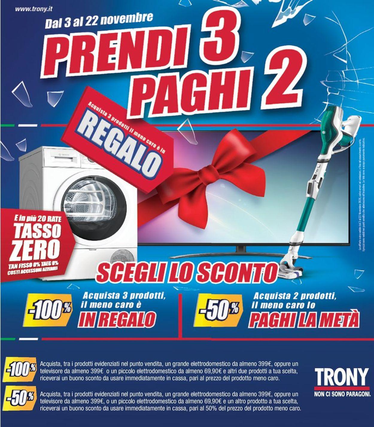 Volantino Trony - Offerte 03/11-22/11/2020