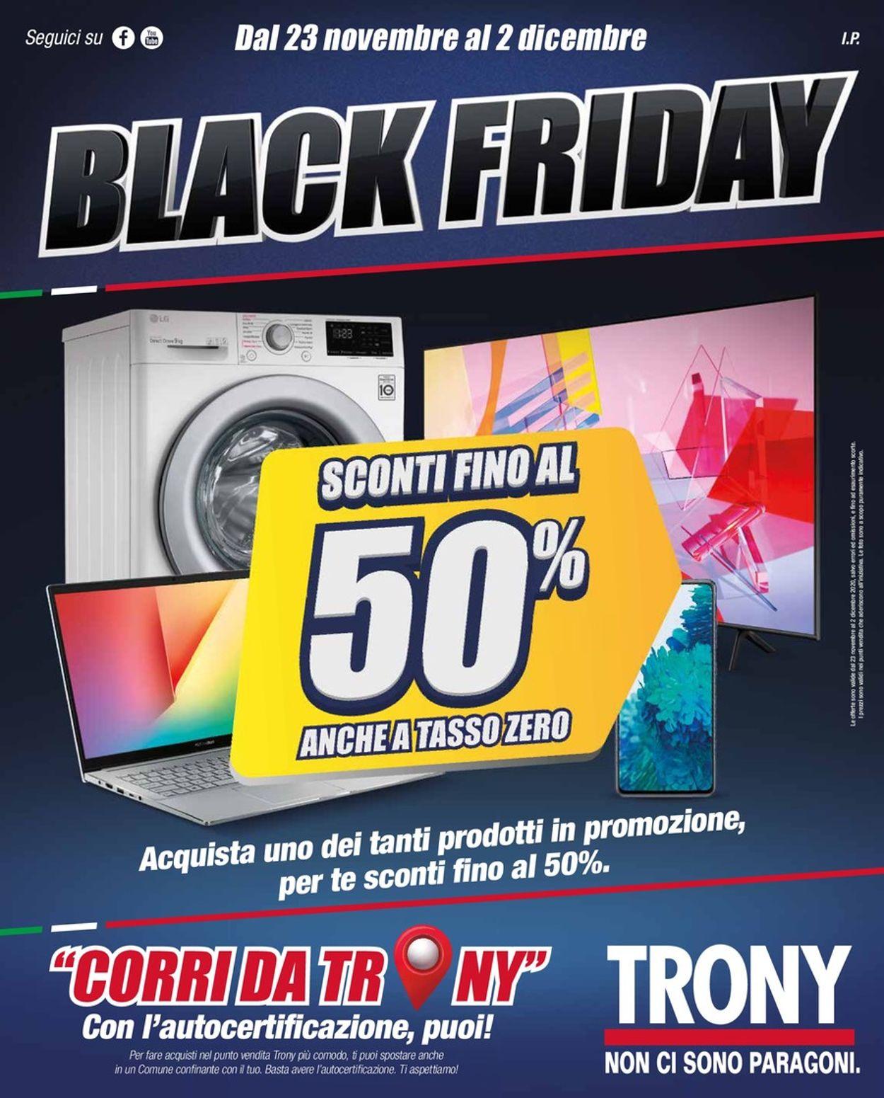 Volantino Trony Black Friday 2020 - Offerte 23/11-02/12/2020