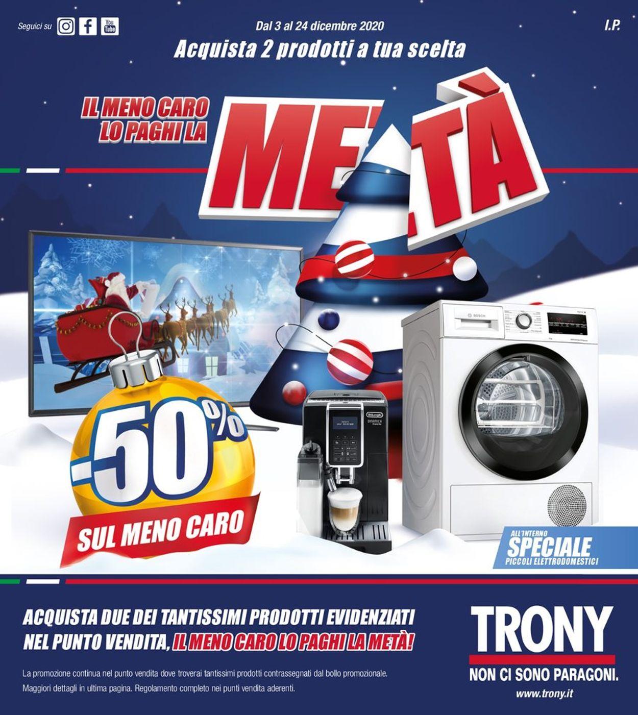 Volantino Trony - Natale 2020 - Offerte 03/12-24/12/2020