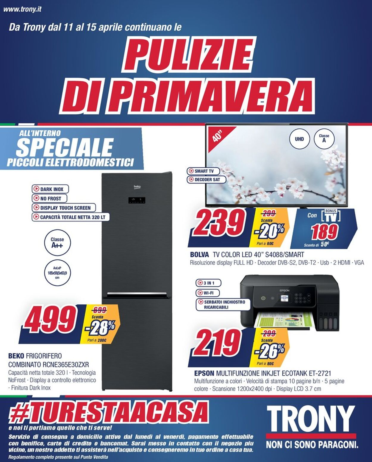 Volantino Trony - Offerte 11/04-15/04/2021