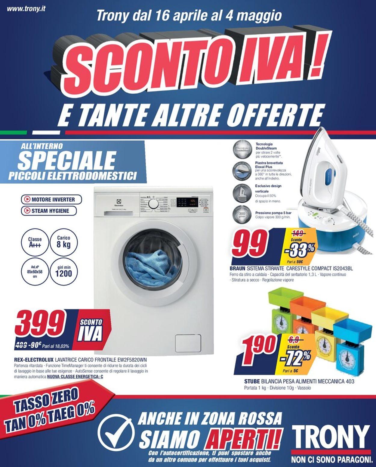 Volantino Trony - Offerte 16/04-04/05/2021