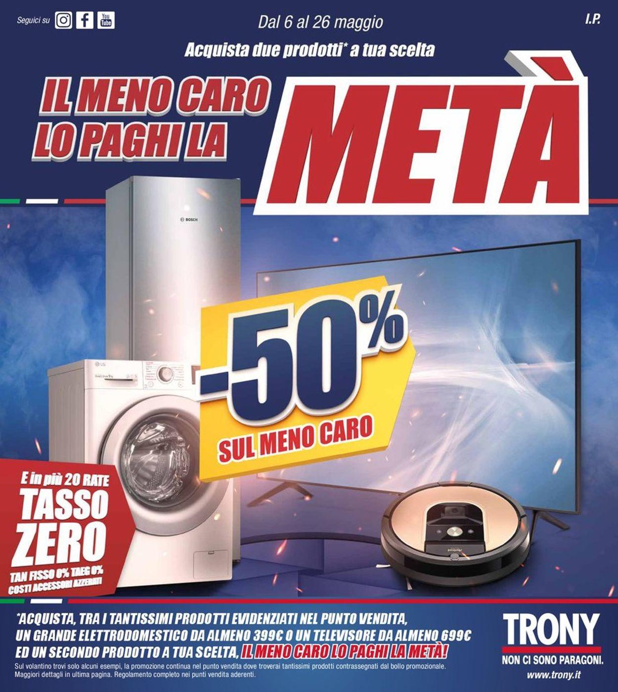 Volantino Trony - Offerte 06/05-26/05/2021