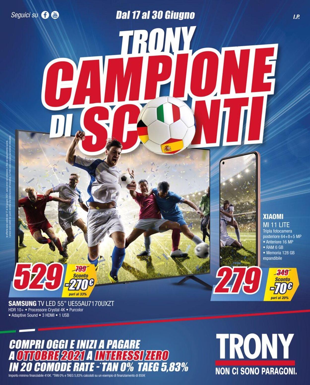 Volantino Trony - Offerte 17/06-30/06/2021