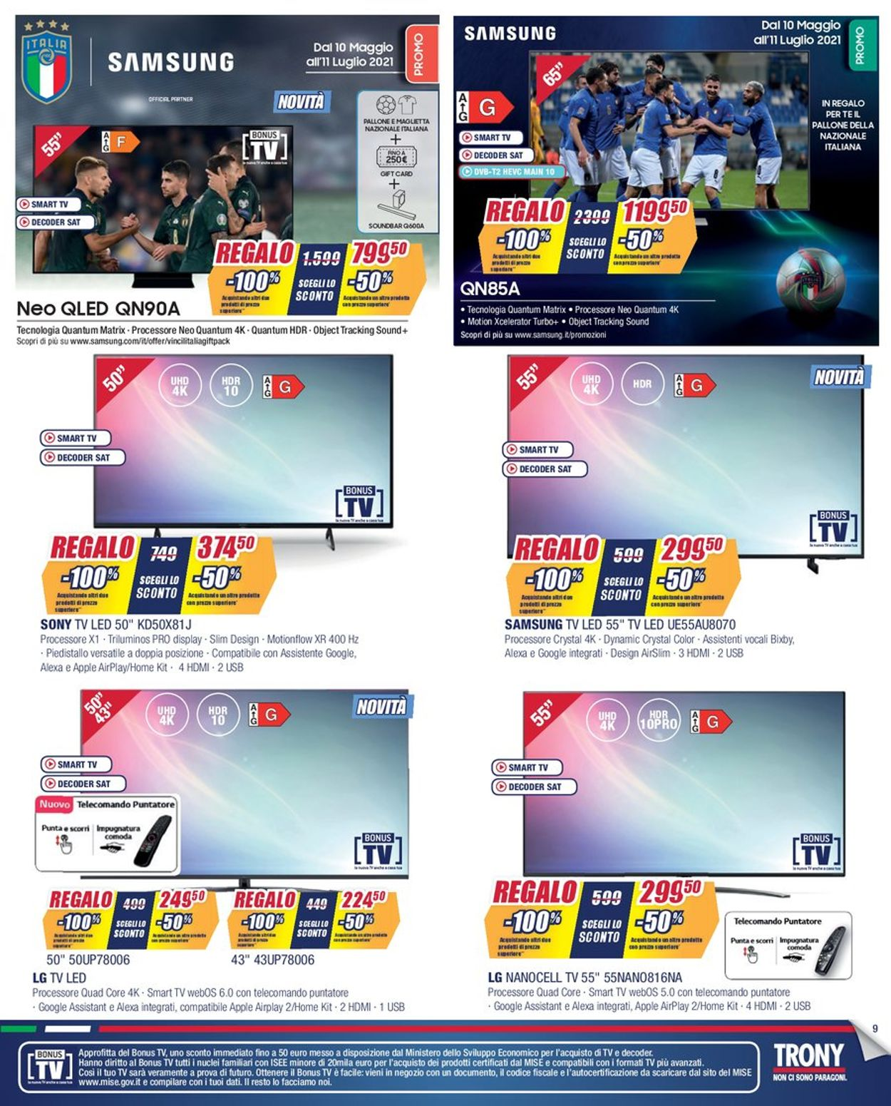 Volantino Trony - Offerte 01/07-22/07/2021 (Pagina 9)