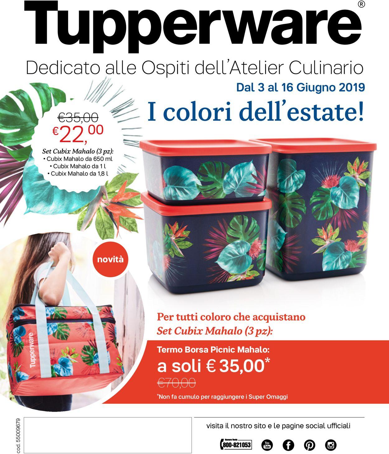 Volantino Tupperware - Offerte 03/06-16/06/2019