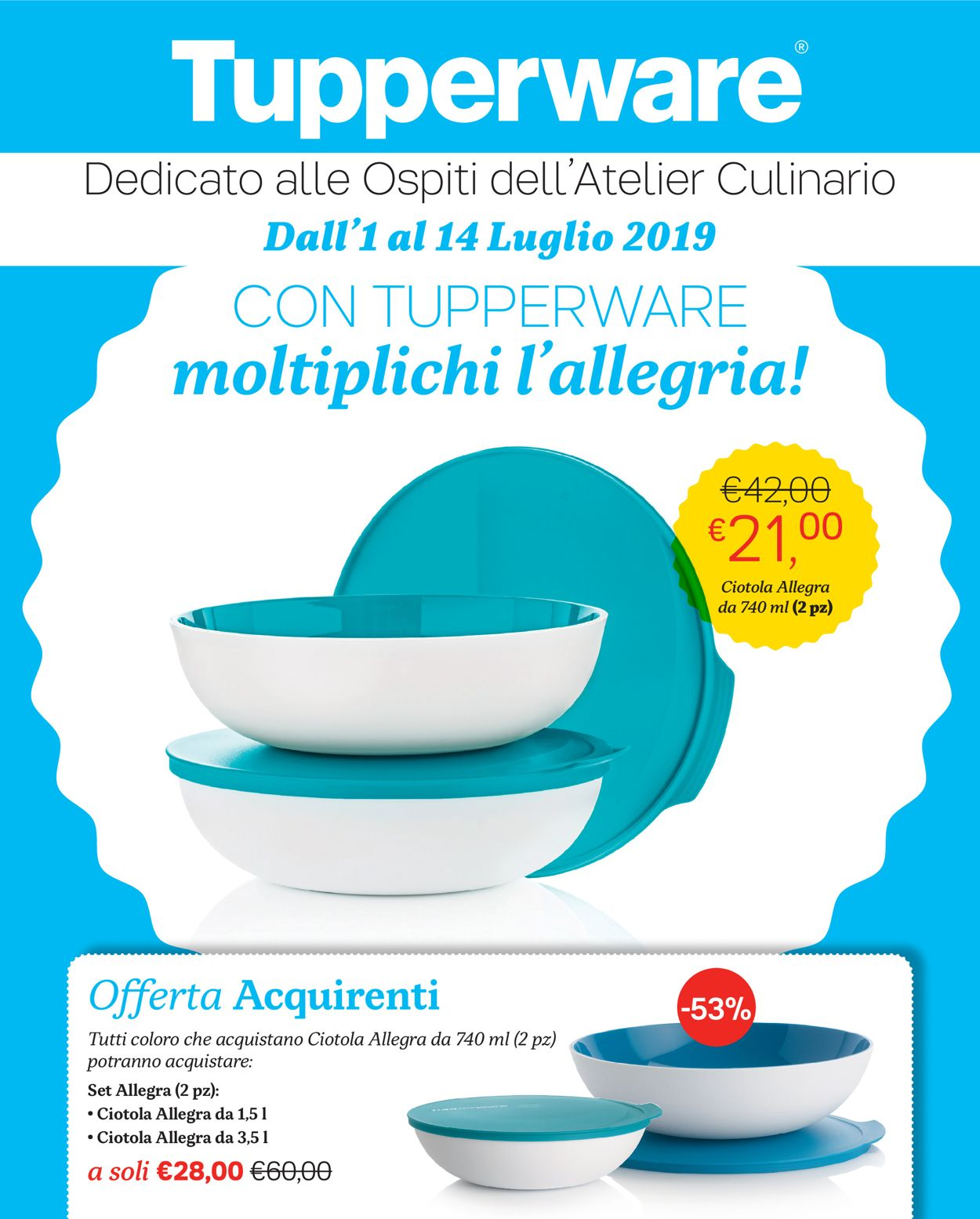 Volantino Tupperware - Offerte 01/07-14/07/2019
