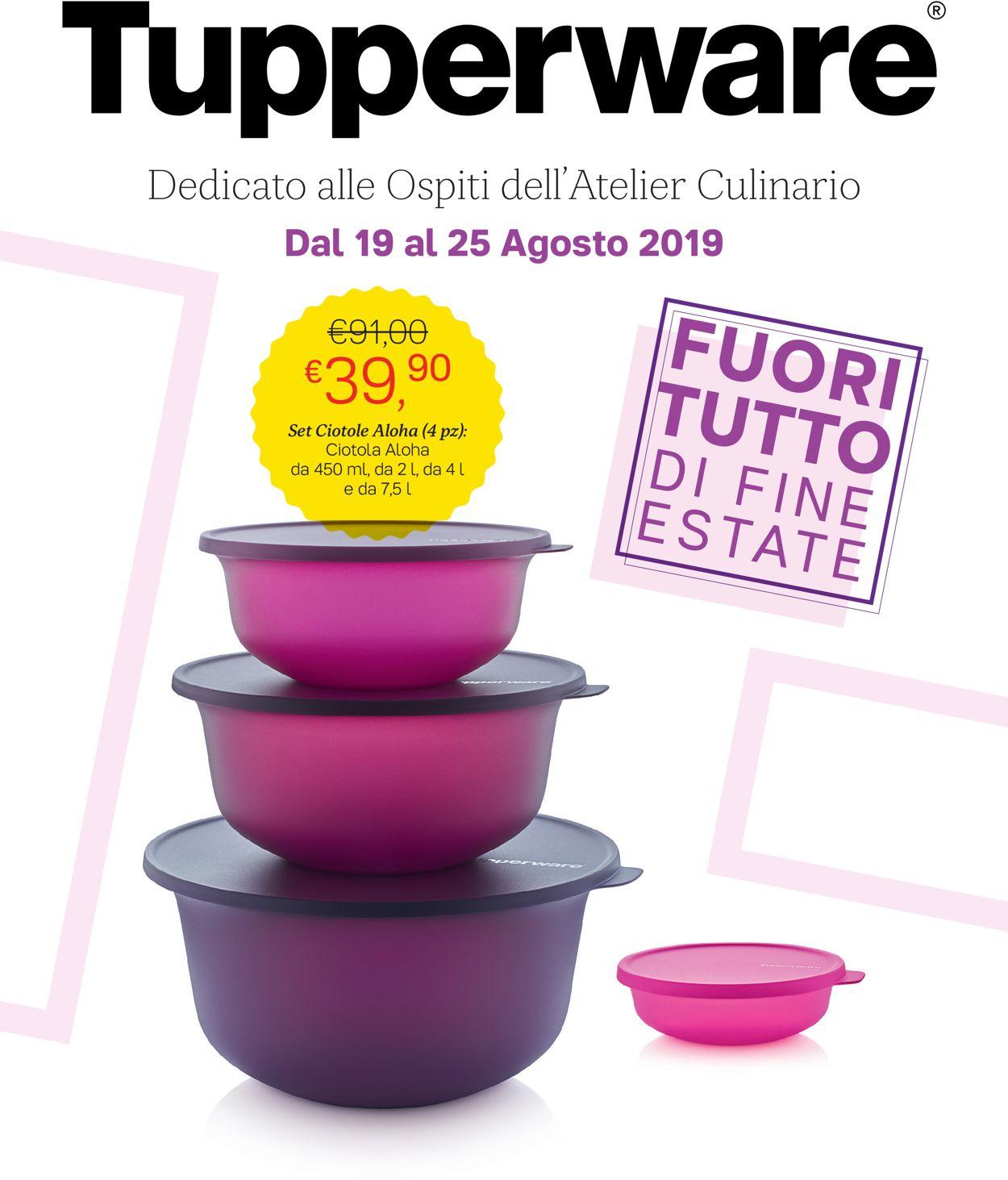 Volantino Tupperware - Offerte 19/08-25/08/2019