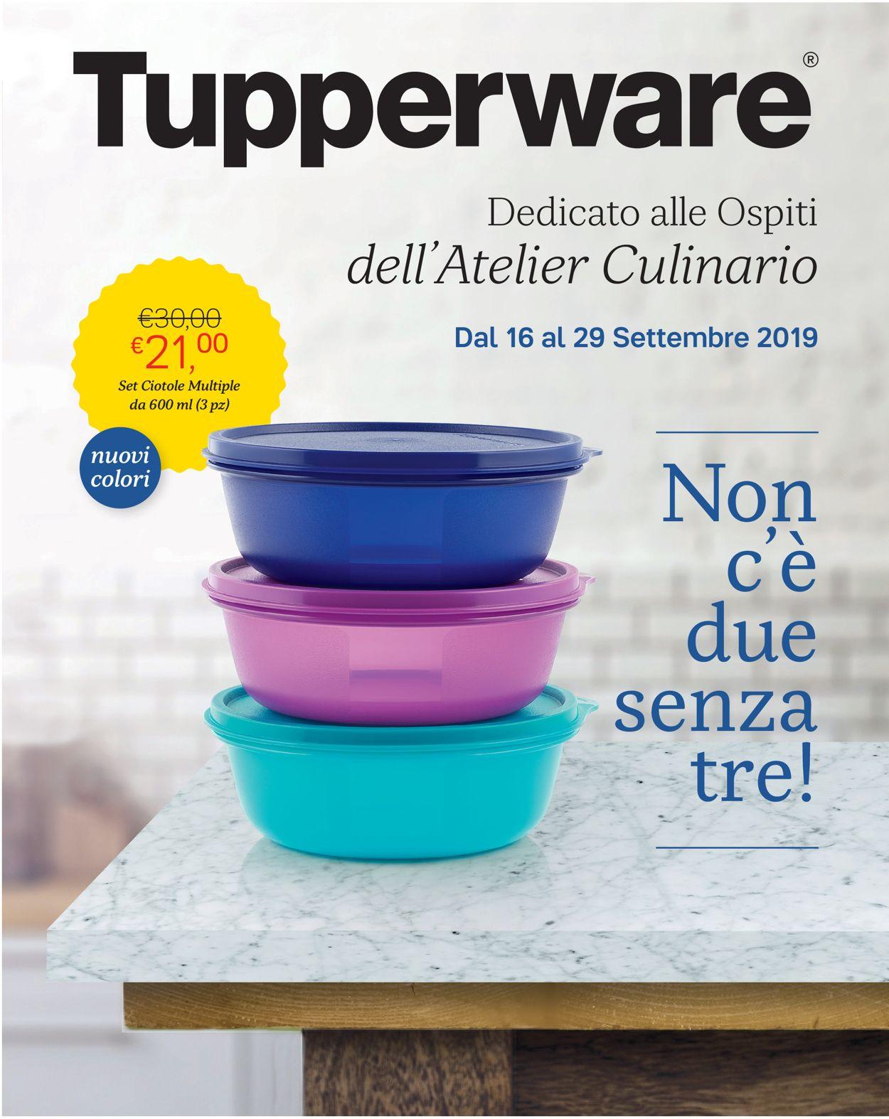 Volantino Tupperware - Offerte 16/09-29/09/2019