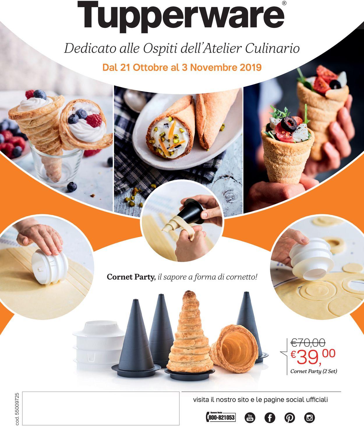 Volantino Tupperware - Offerte 21/10-03/11/2019