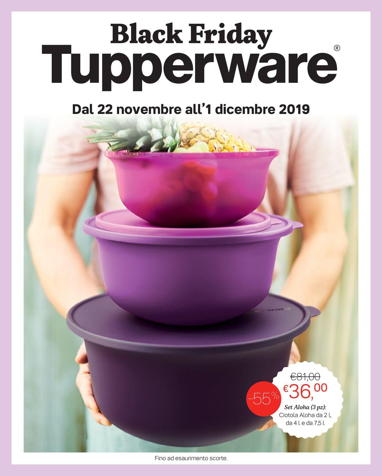 Volantino Tupperware - Offerte 22/11-01/12/2019
