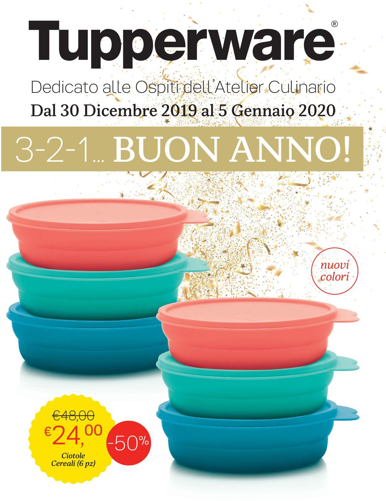 Volantino Tupperware - Offerte 30/12-05/01/2020