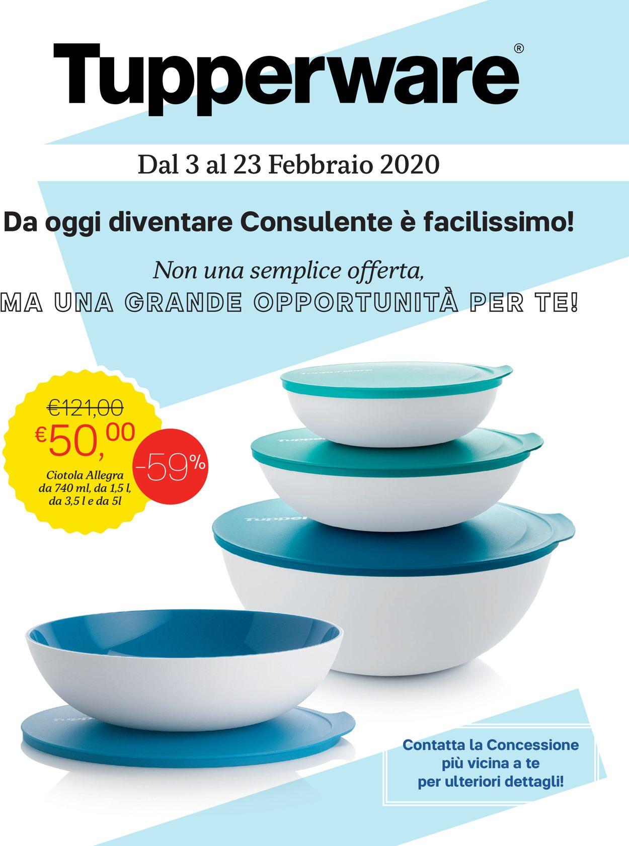 Volantino Tupperware - Offerte 03/02-23/02/2020