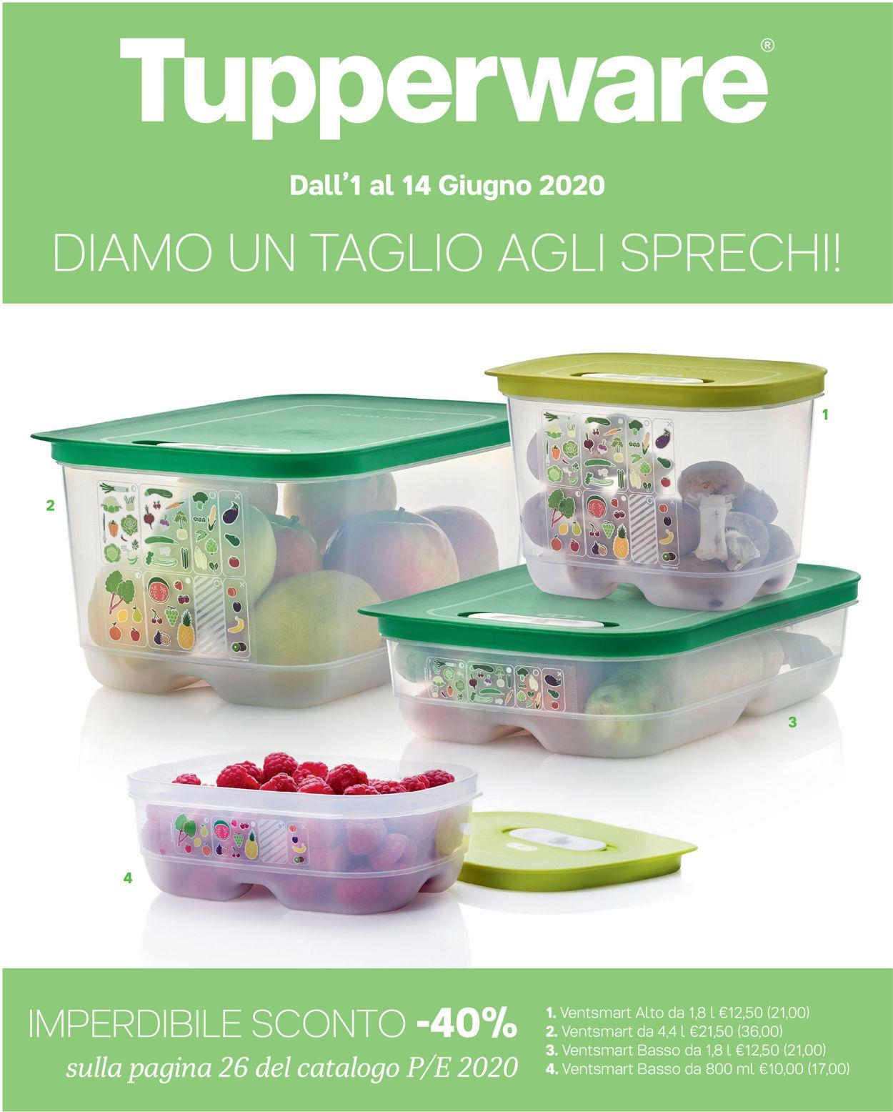 Volantino Tupperware - Offerte 01/06-14/06/2020