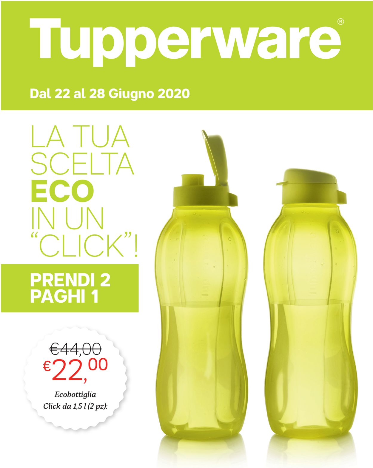 Volantino Tupperware - Offerte 22/06-28/06/2020