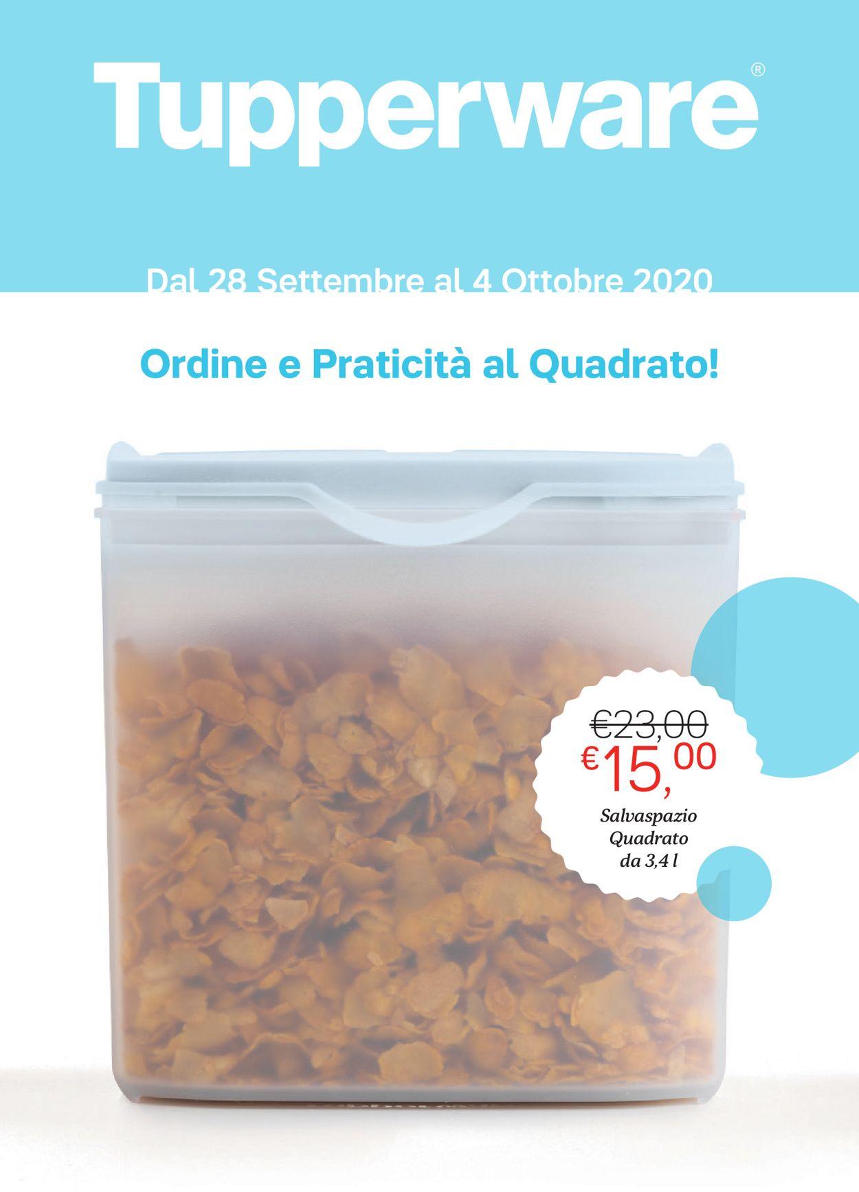 Volantino Tupperware - Offerte 28/09-04/10/2020