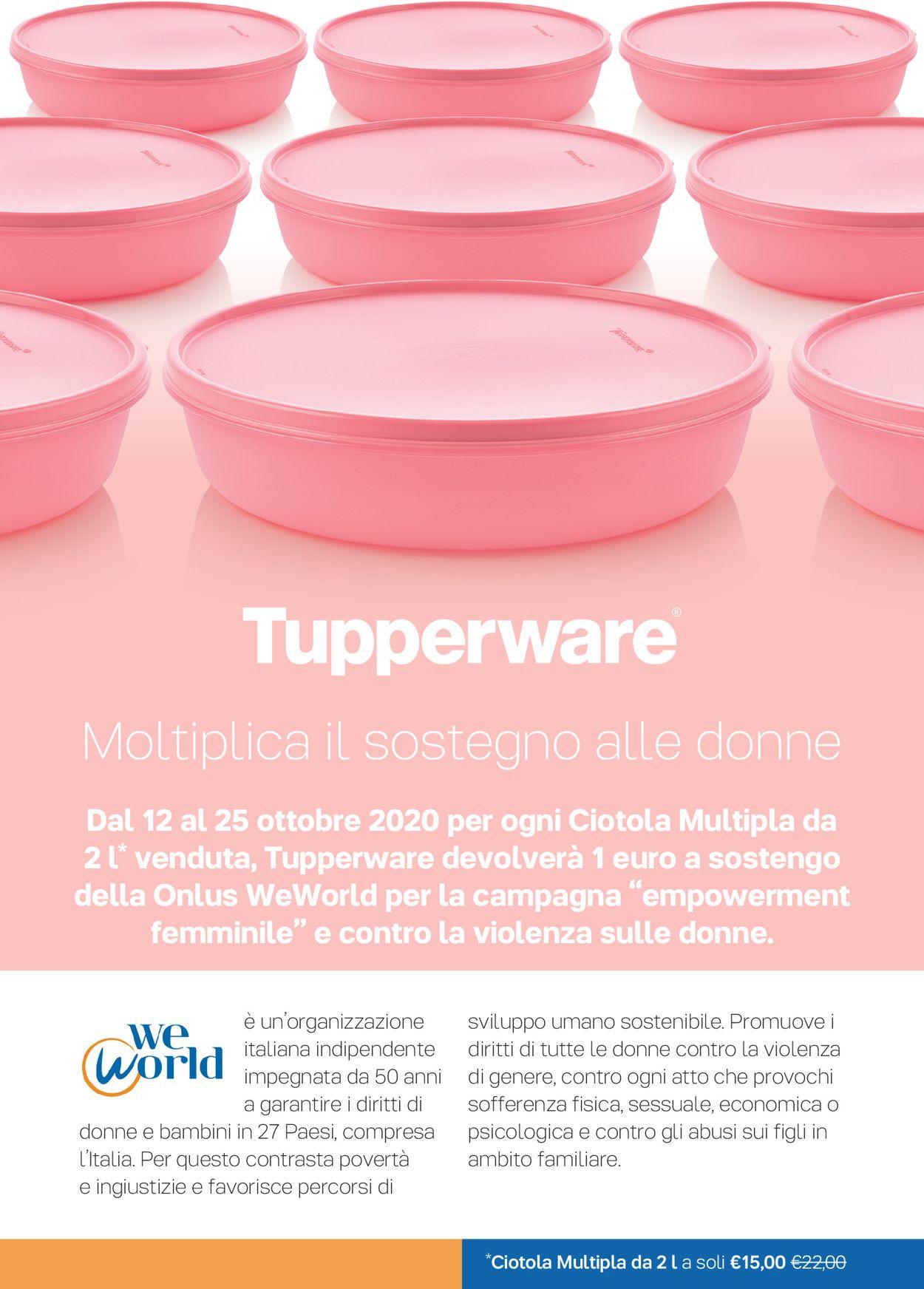 Volantino Tupperware - Offerte 12/10-25/10/2020