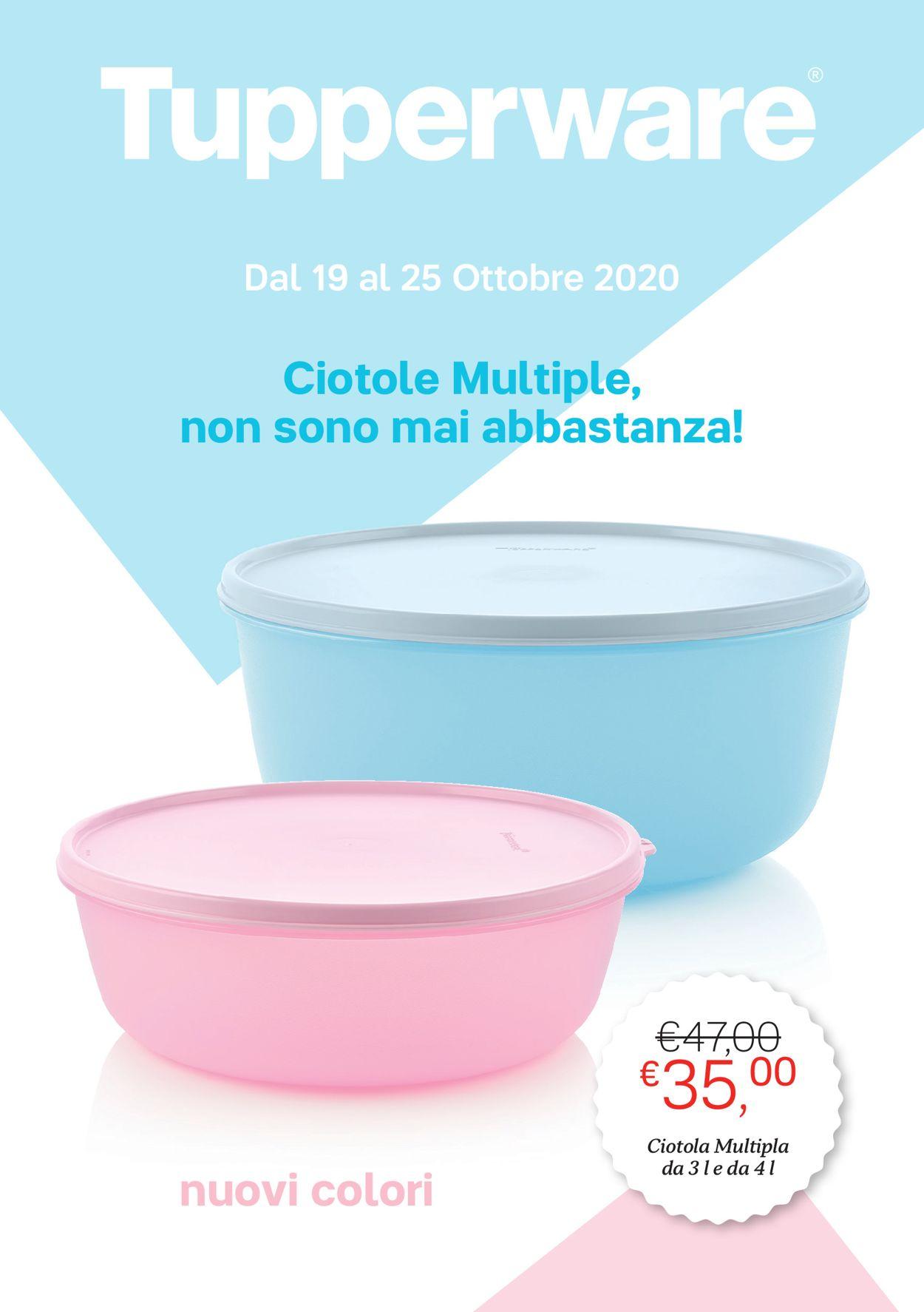 Volantino Tupperware - Offerte 19/10-25/10/2020