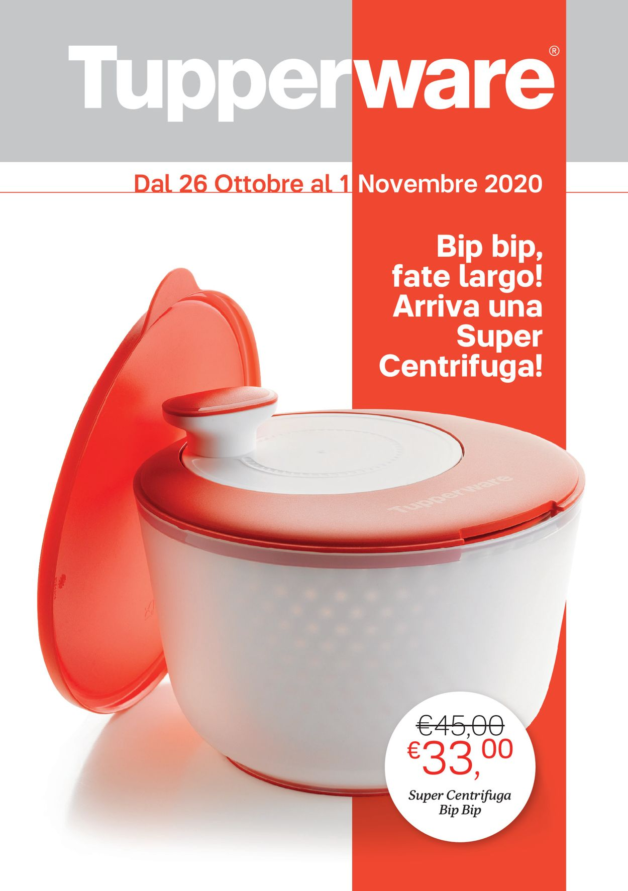 Volantino Tupperware - Offerte 26/10-01/11/2020