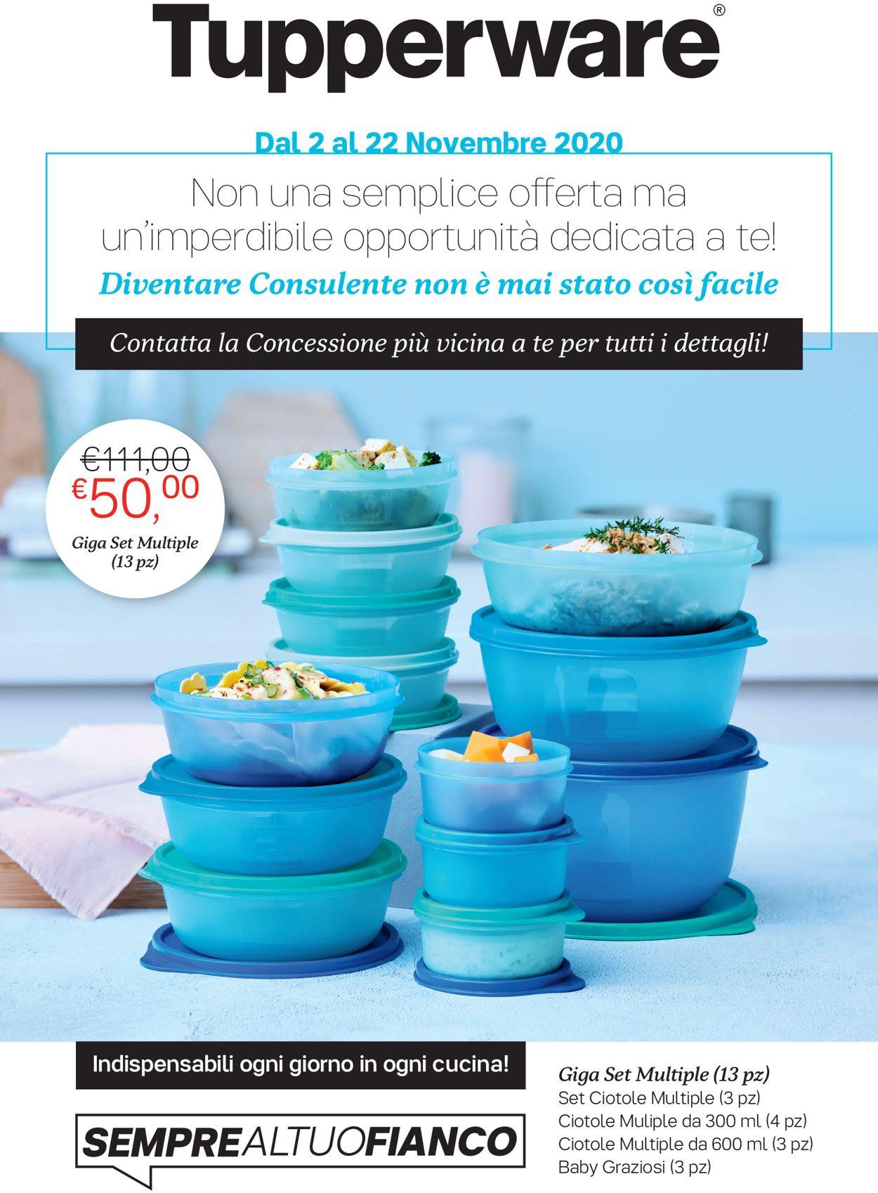Volantino Tupperware - Offerte 02/11-22/11/2020