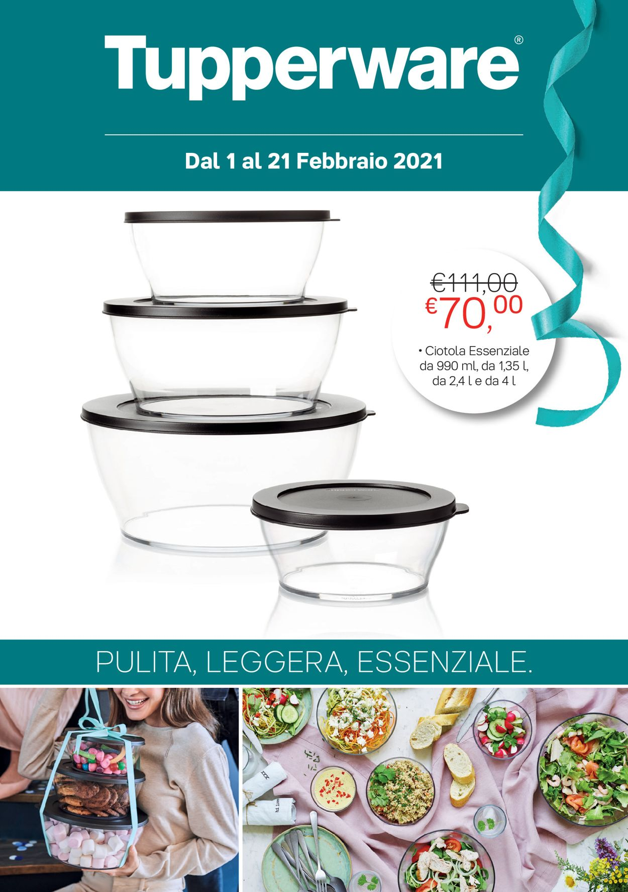 Volantino Tupperware - Offerte 01/02-21/02/2021