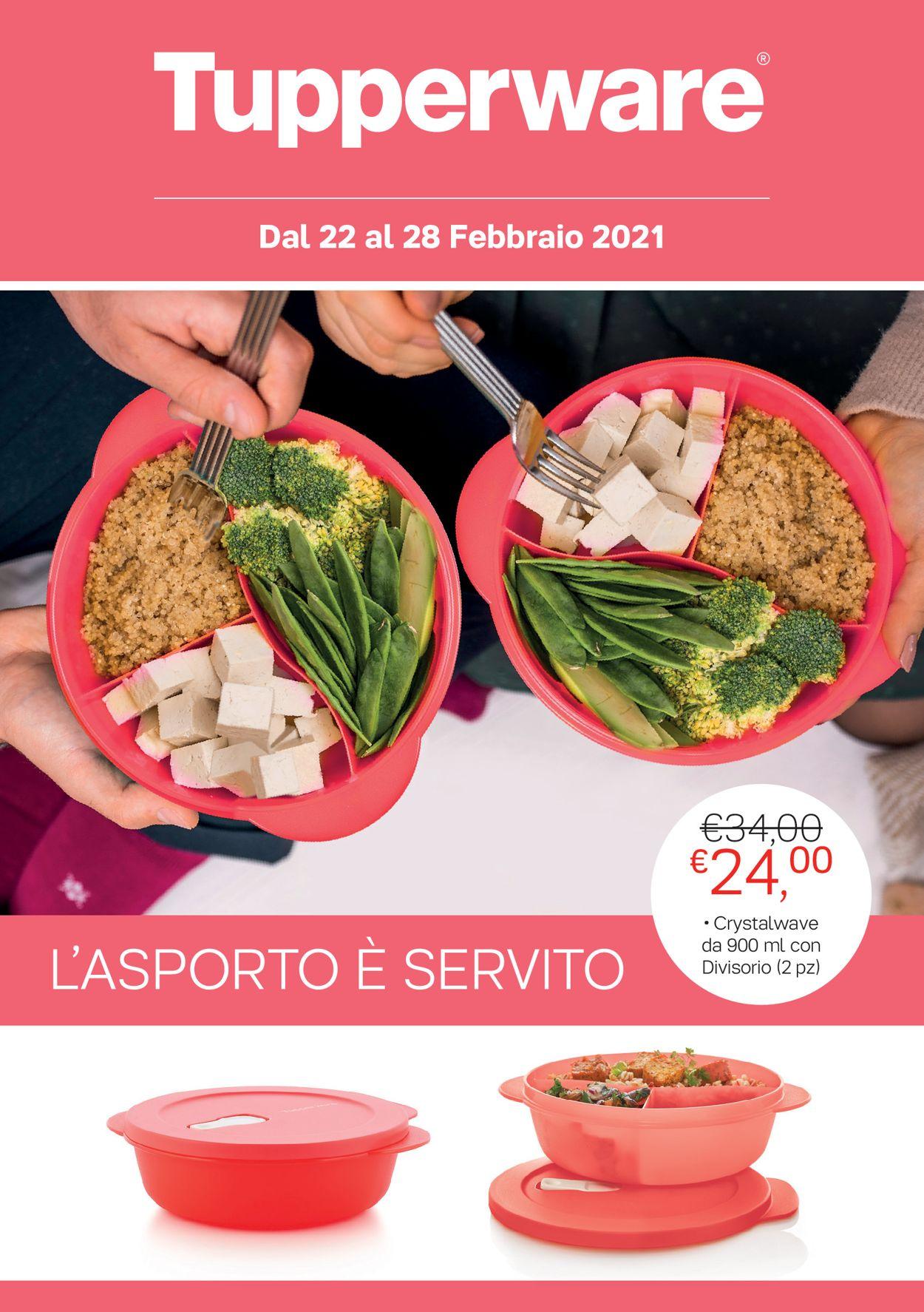 Volantino Tupperware - Offerte 22/02-28/02/2021