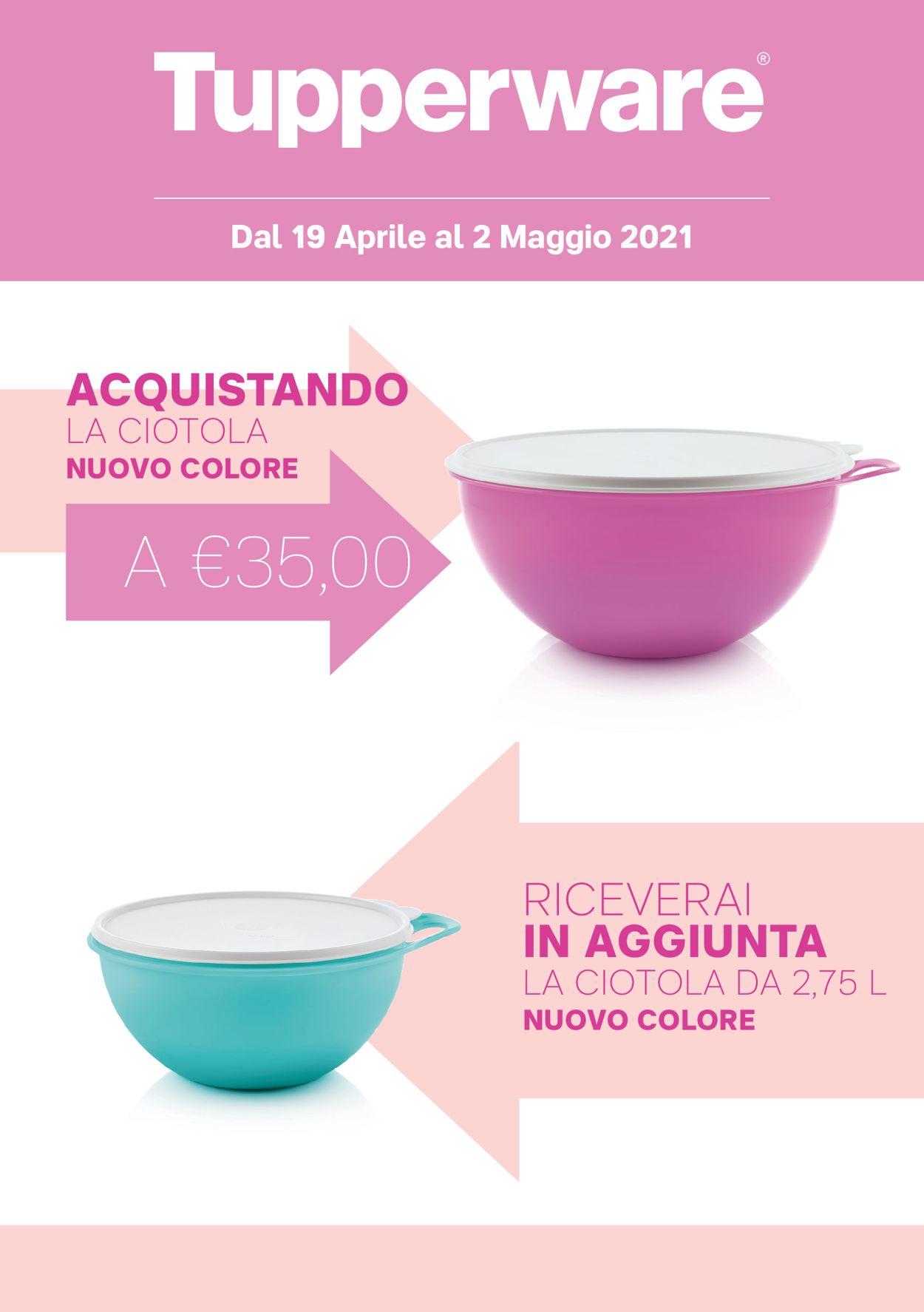 Volantino Tupperware - Offerte 19/04-02/05/2021