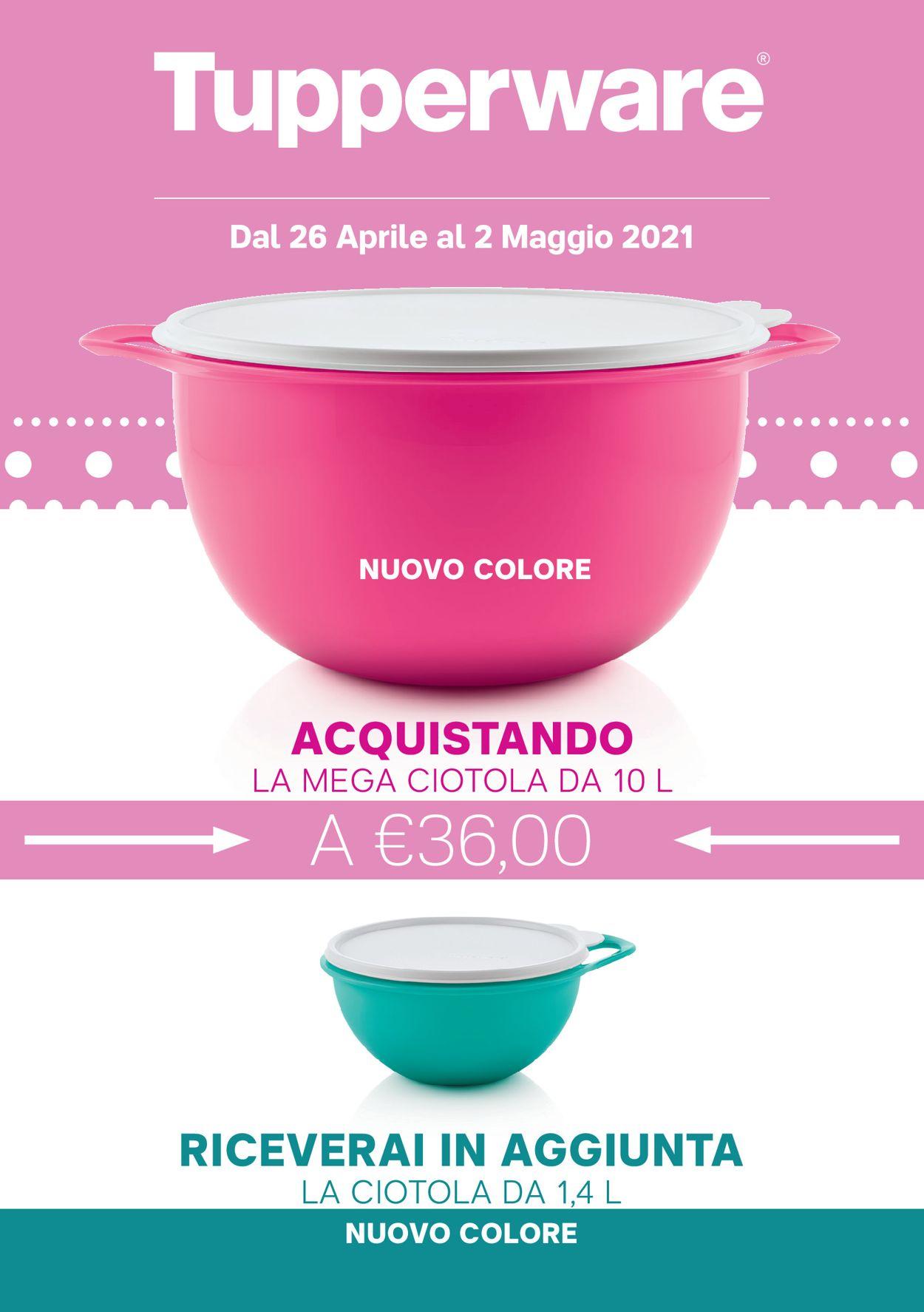 Volantino Tupperware - Offerte 26/04-02/05/2021