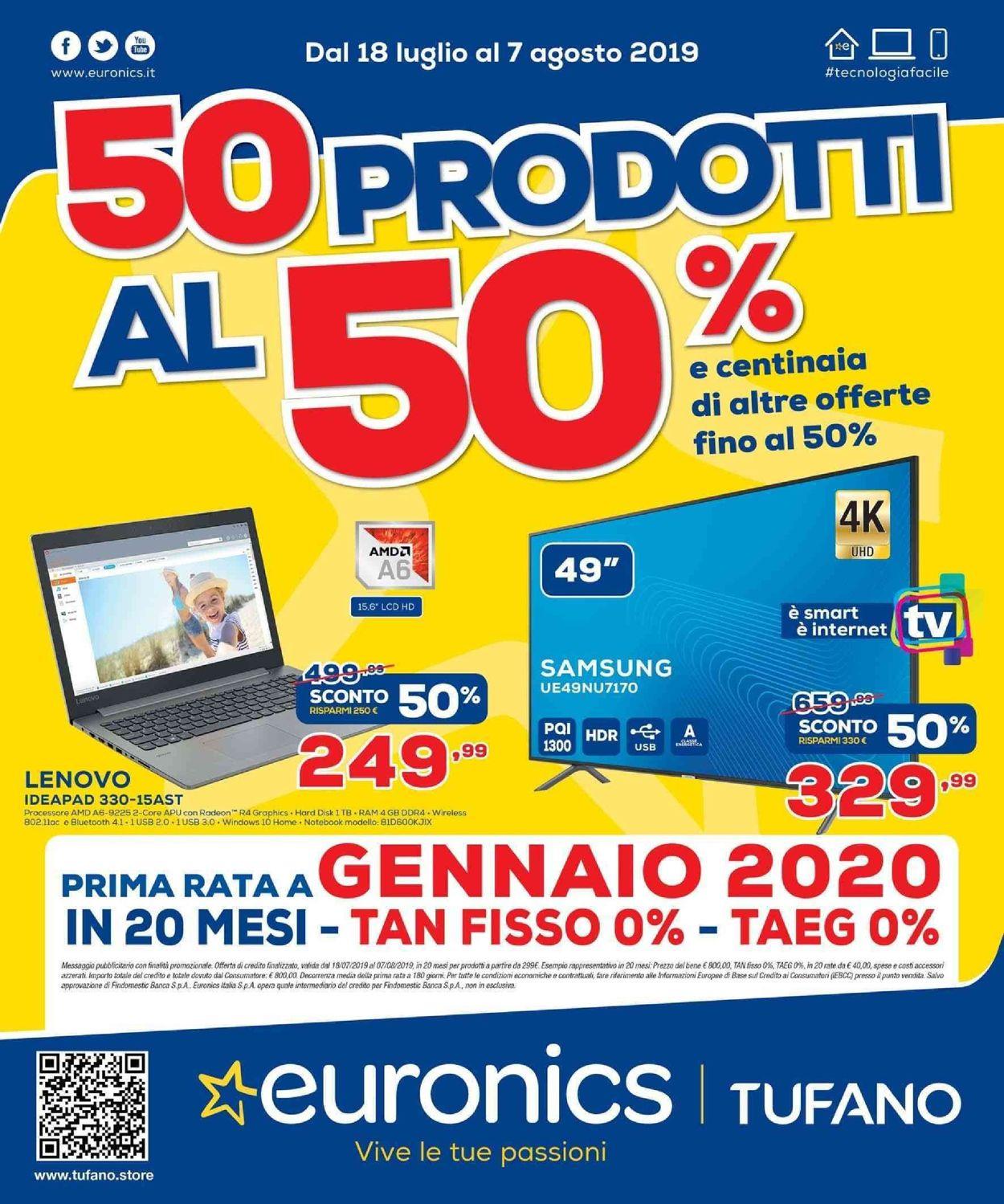 Volantino Unieuro - Offerte 18/07-07/08/2019