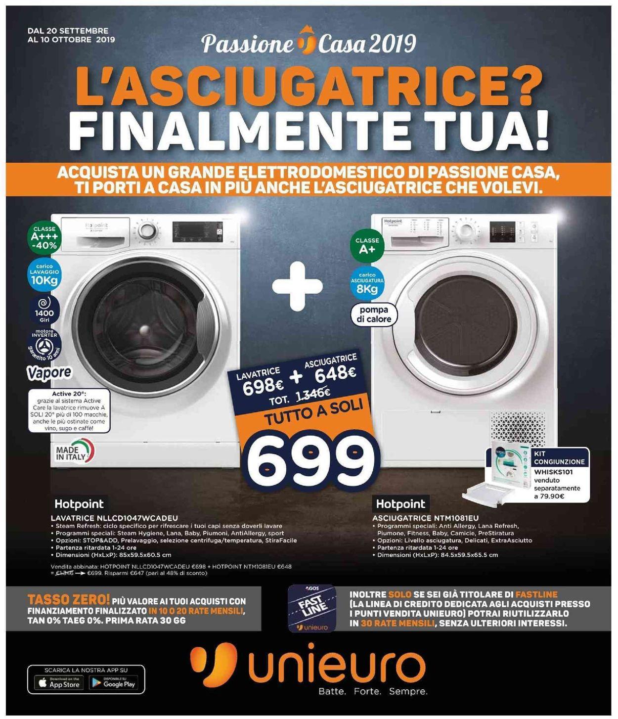 Volantino Unieuro - Offerte 20/09-10/10/2019