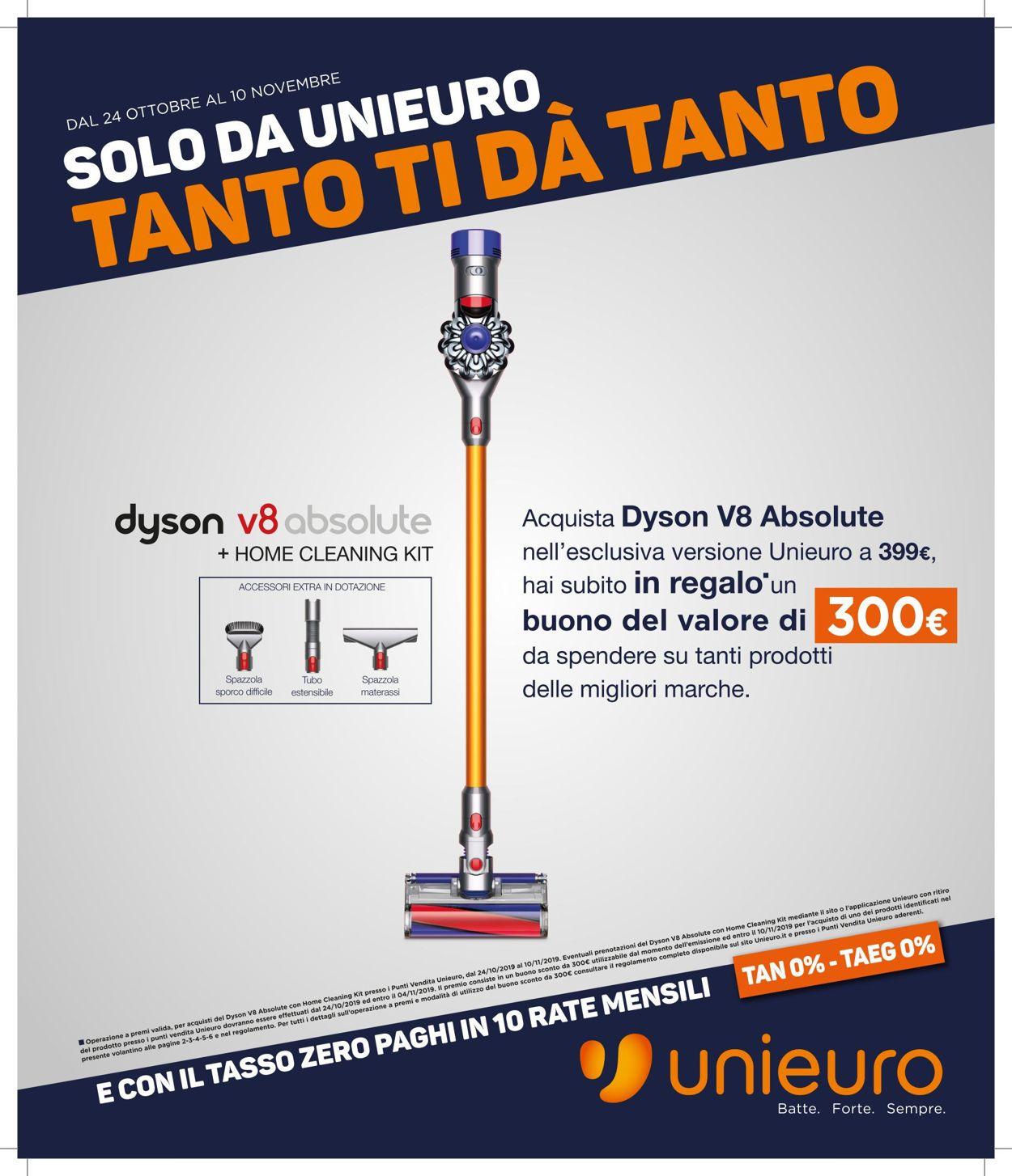 Volantino Unieuro - Offerte 24/10-10/11/2019