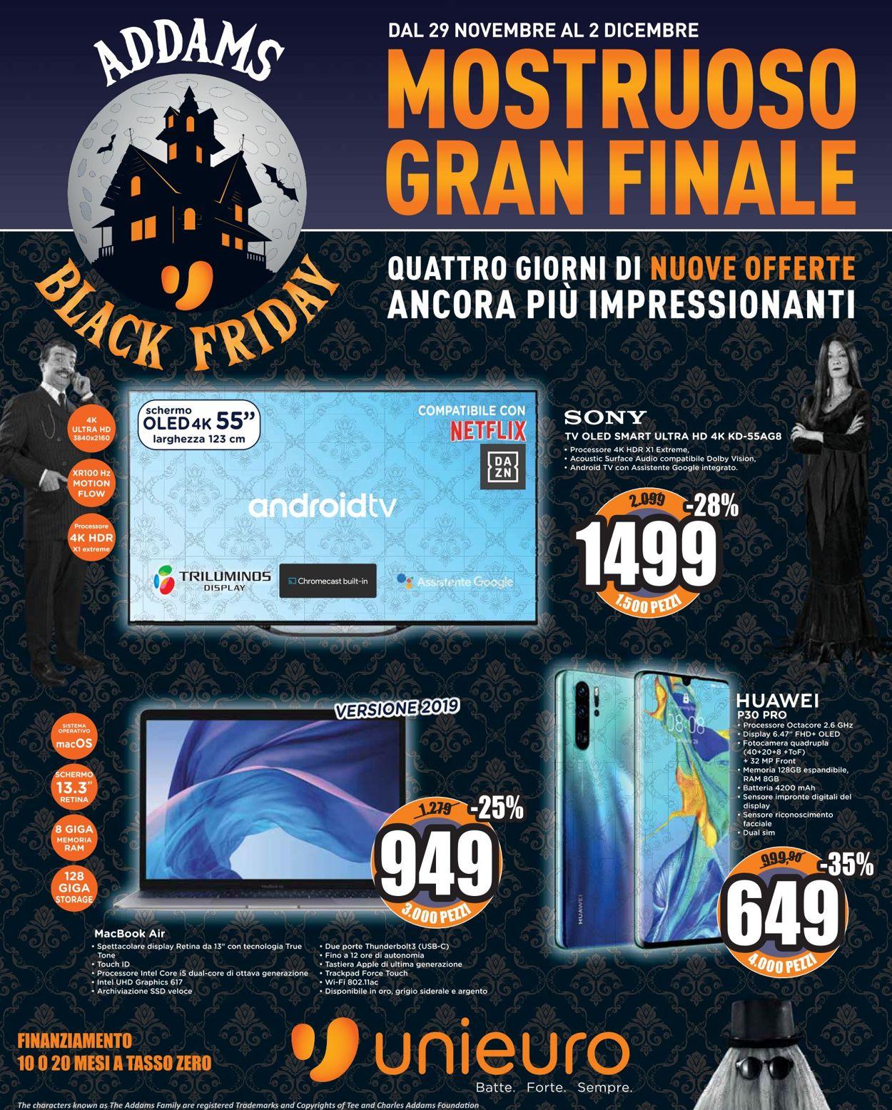 Volantino Unieuro - BLACK FRIDAY 2019 - Offerte 29/11-02/12/2019