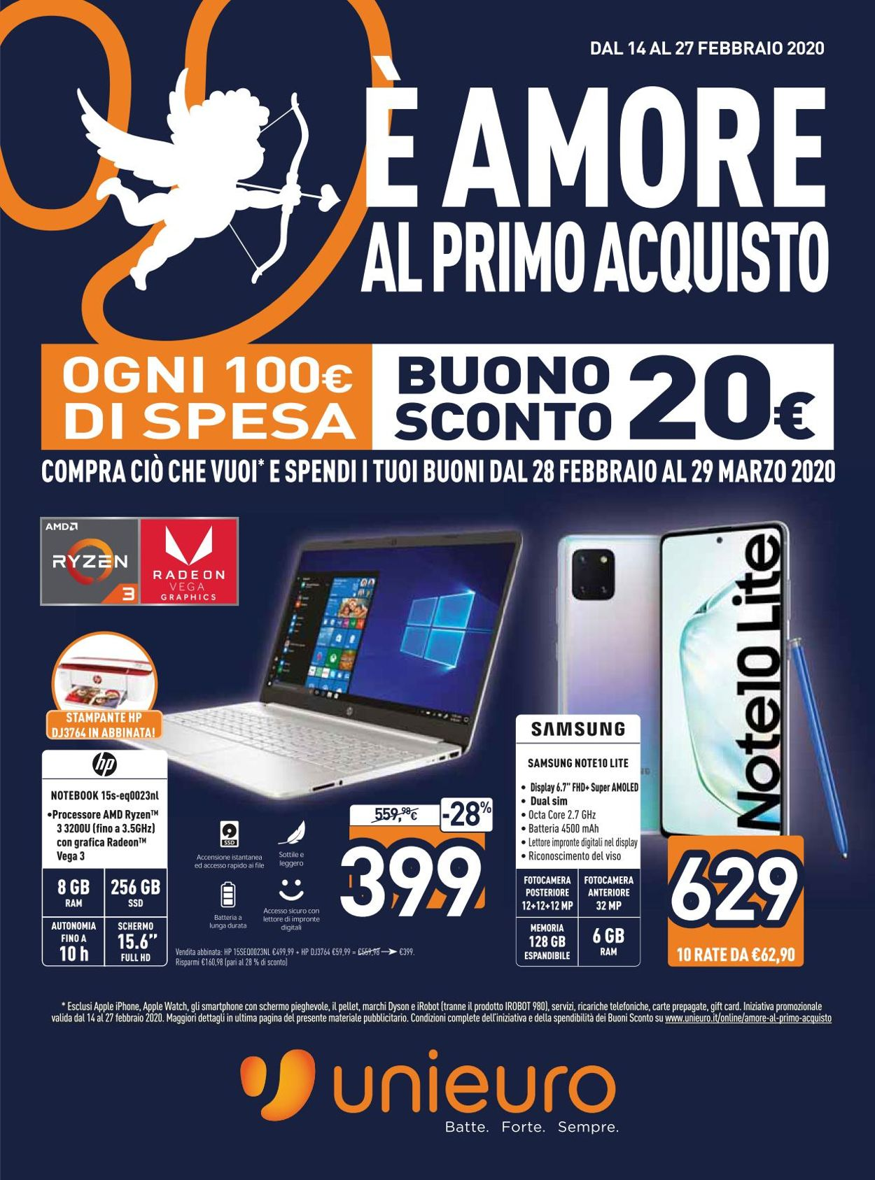 Volantino Unieuro - Offerte 14/02-27/02/2020