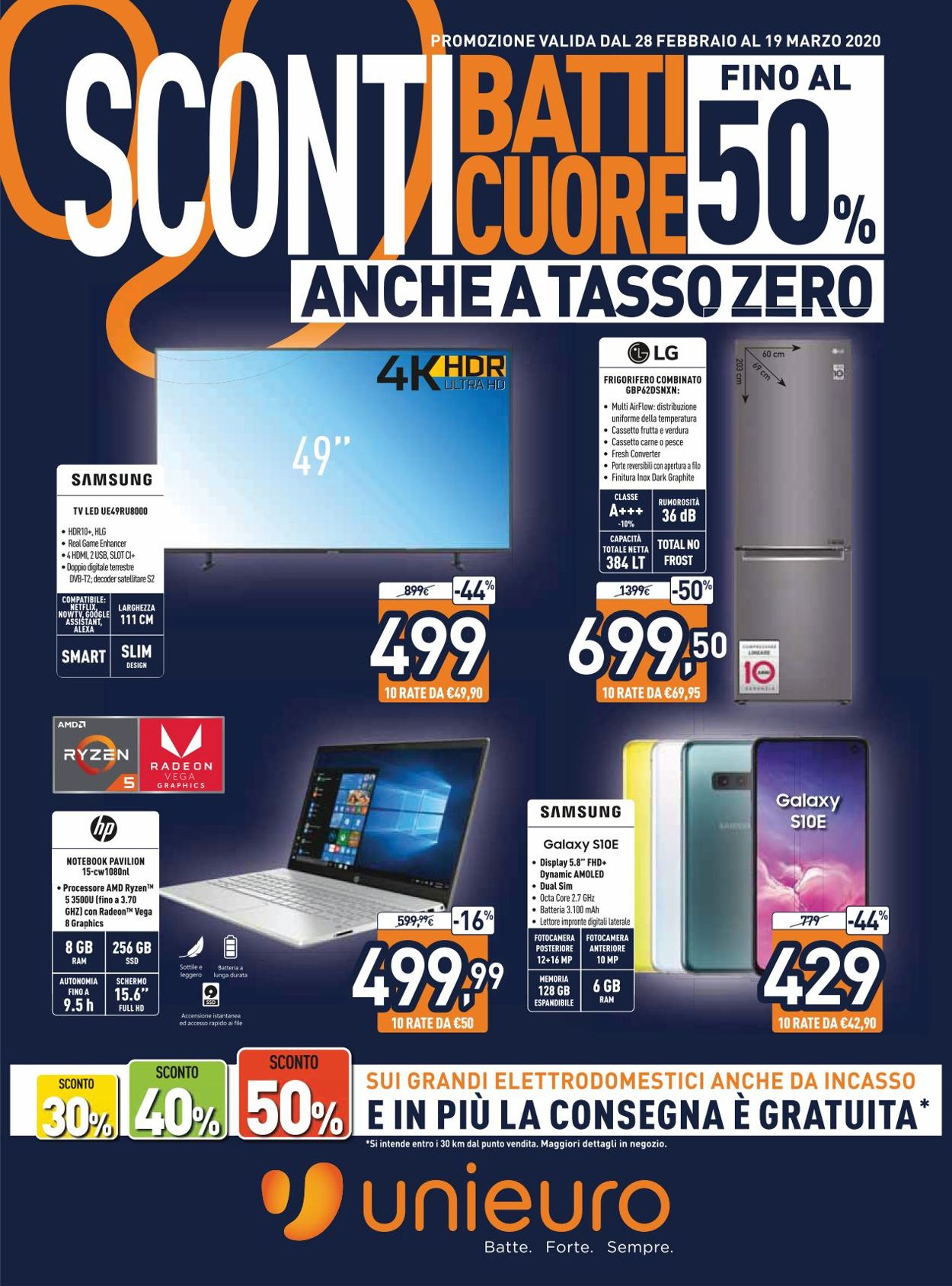 Volantino Unieuro - Offerte 28/02-19/03/2020