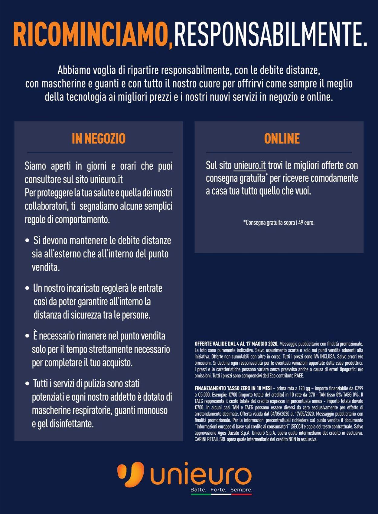 Volantino Unieuro - Offerte 04/05-17/05/2020 (Pagina 43)