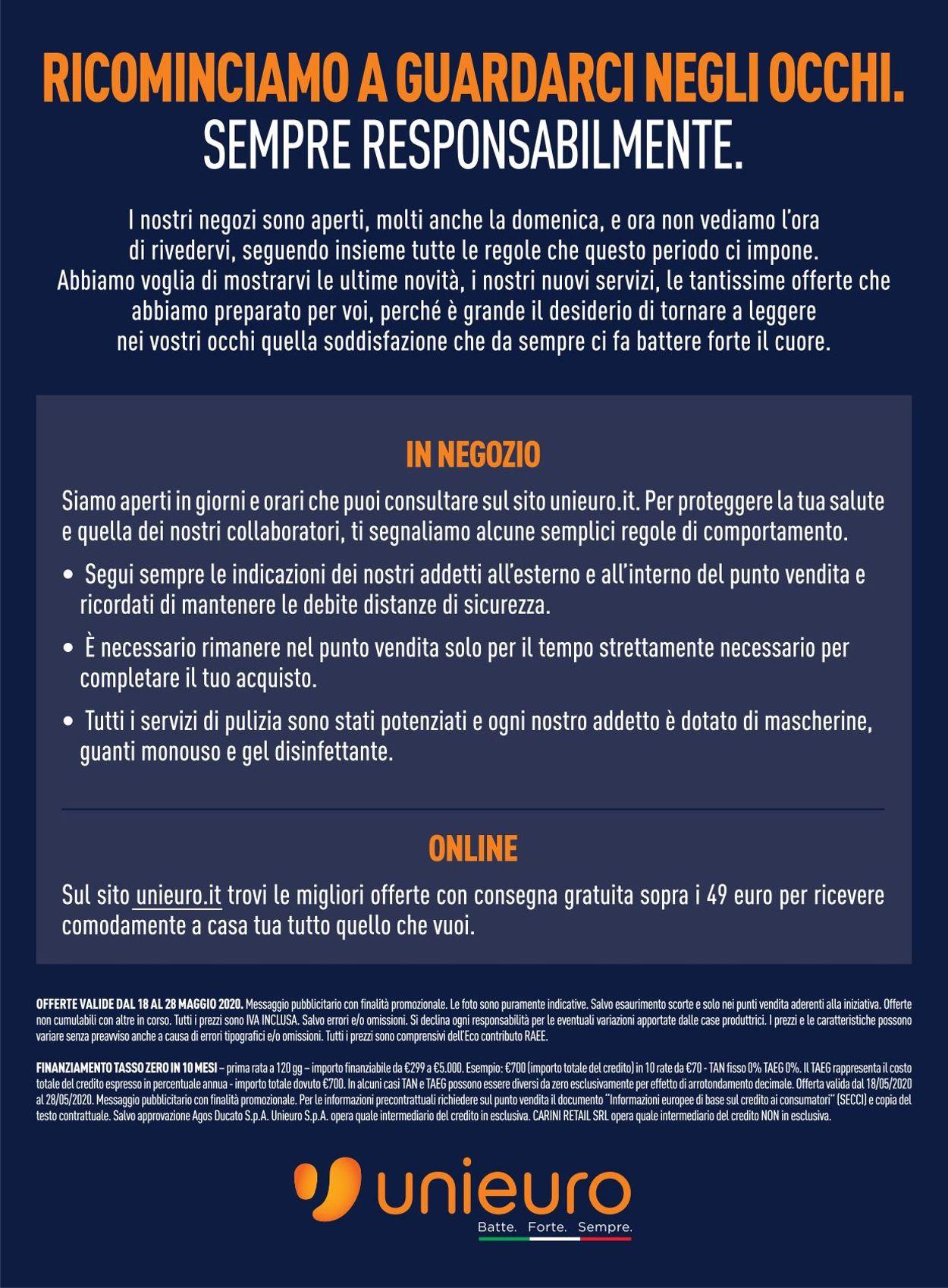 Volantino Unieuro - Offerte 18/05-28/05/2020 (Pagina 40)