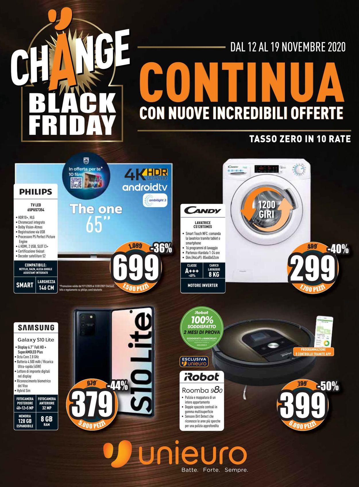 Volantino Unieuro - Black Friday 2020 - Offerte 12/11-19/11/2020